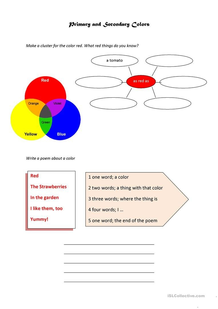 primary and secondary colors fun activities games writing creative writing task 1