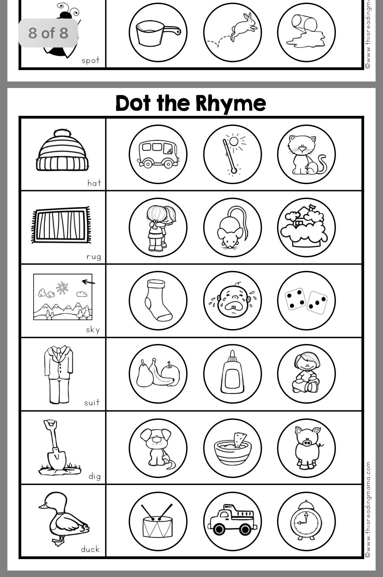 Rhyming Words Kindergarten Worksheets Pin by Kaitlyn Mckenna On Reggio Kindergarten