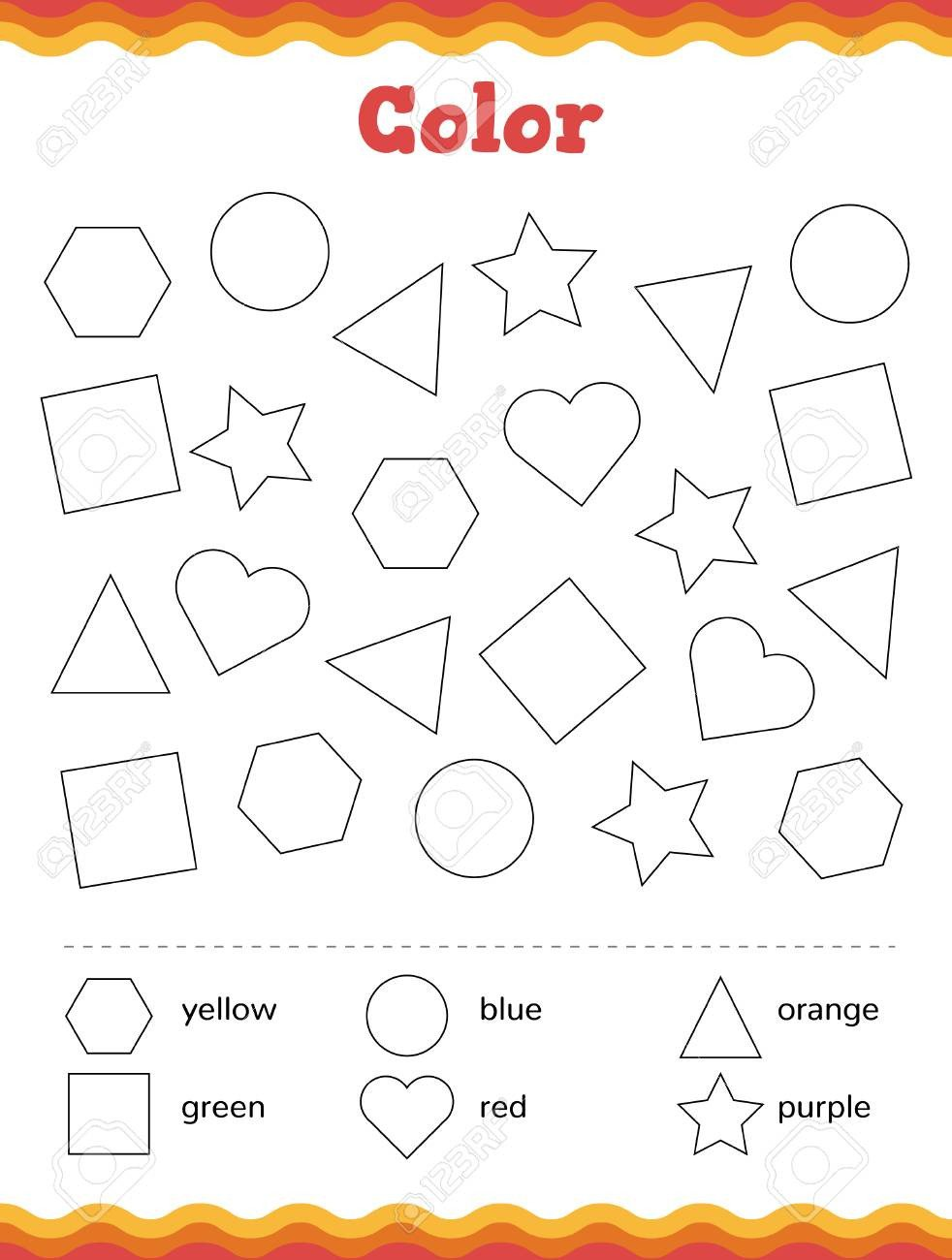 Shapes for Kindergarten Worksheets Worksheet Kindergartent Image Inspirations Learn Shapes