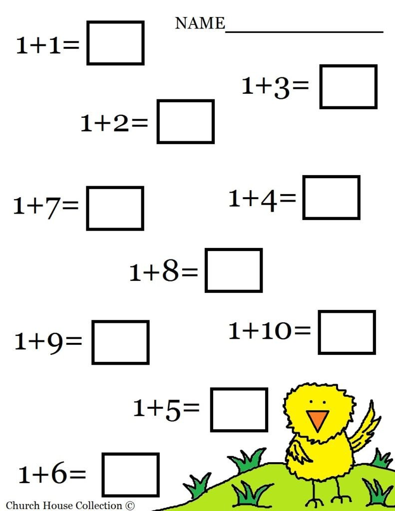 simple addition worksheets for learning