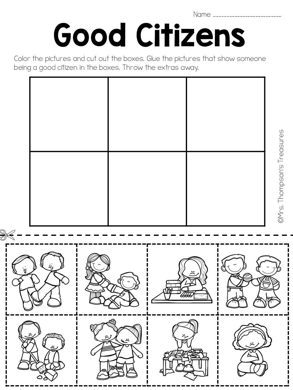Social Studies Kindergarten Worksheets social Stu S Being A Good Citizen with Images