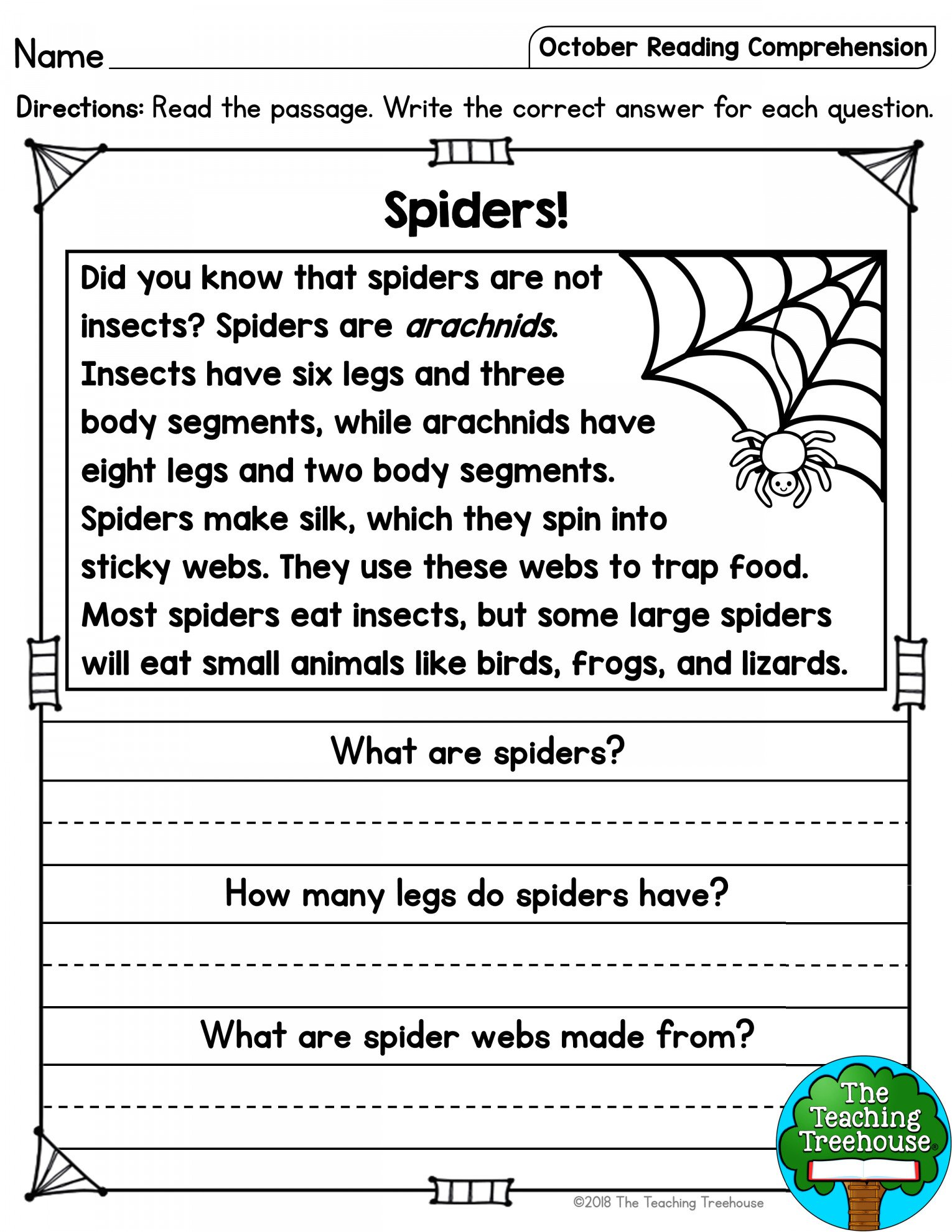 Spider Worksheet for Kindergarten Spider Worksheet Kindergarten