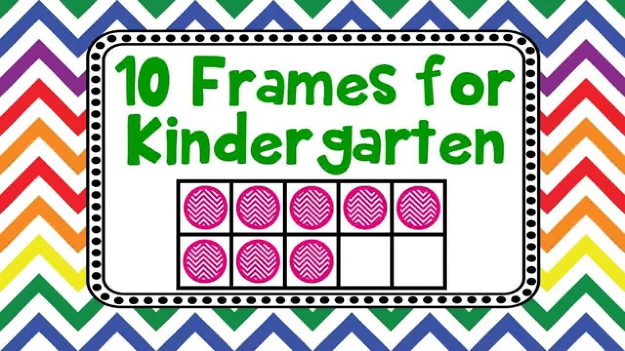 Ten Frames Kindergarten Worksheets 10 Frames for Kindergarten Kids Adding Counting Using Ten Frames