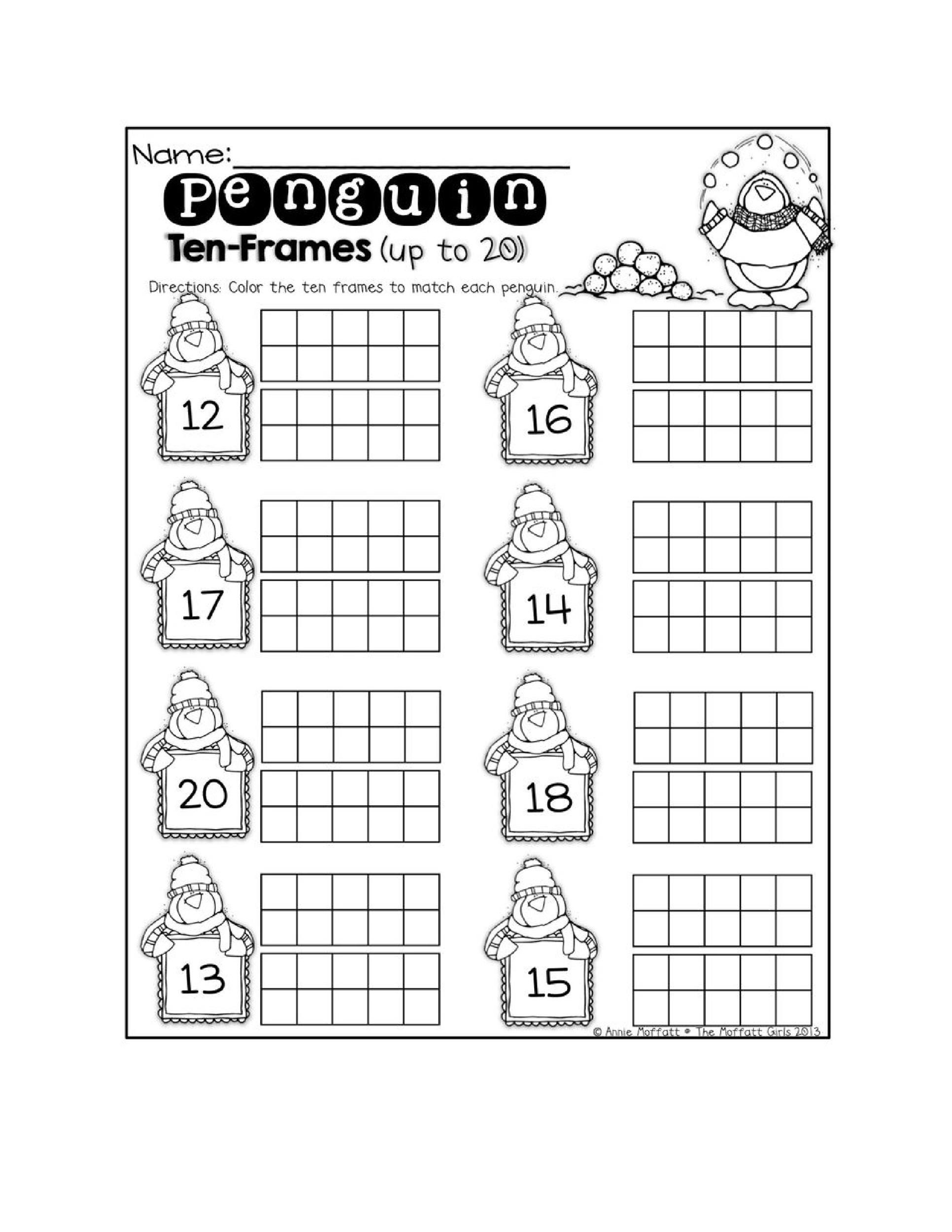 Ten Frames Kindergarten Worksheets 36 Printable Ten Frame Templates Free Templatelab