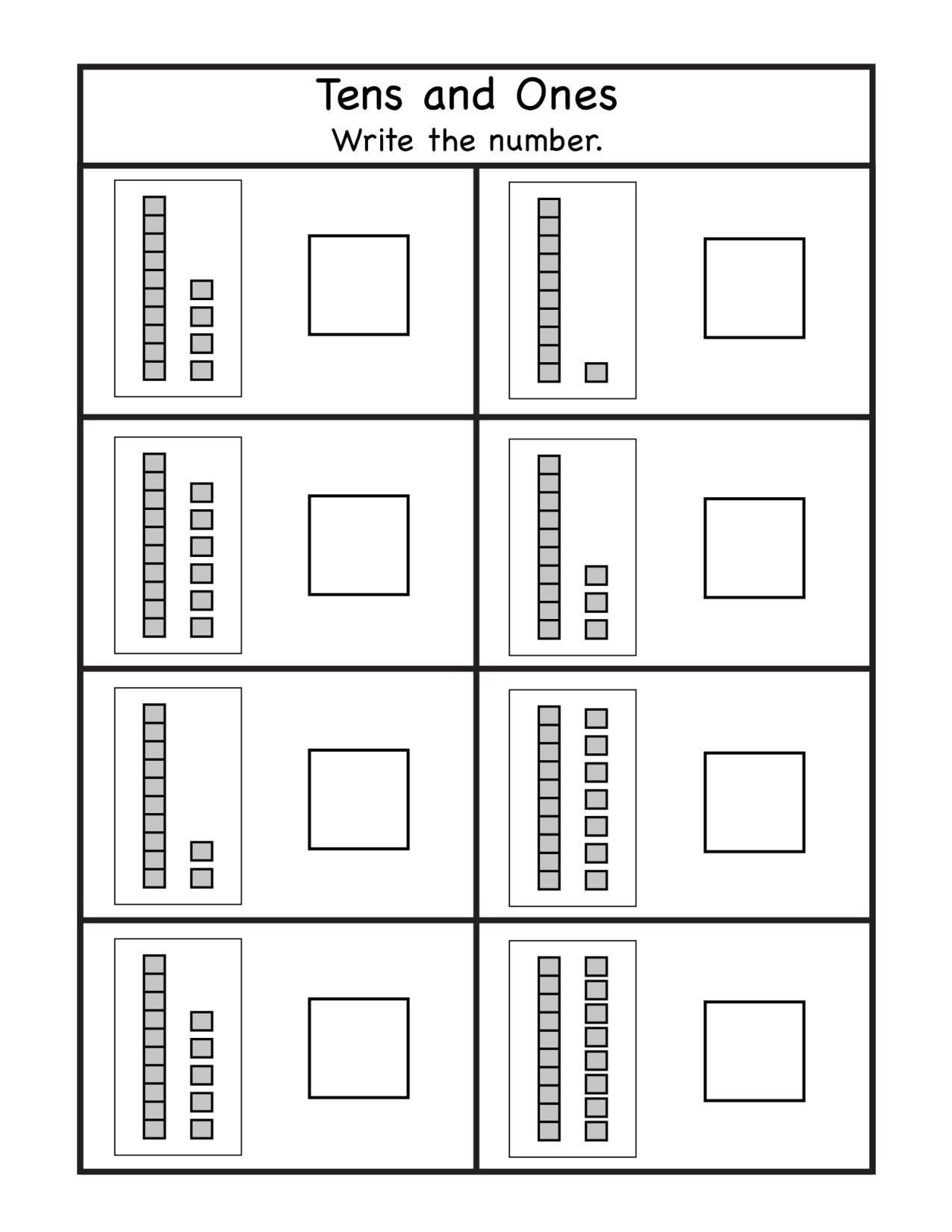 Tens and Ones Worksheet Kindergarten Pin On Printable Worksheet for Kindergarten