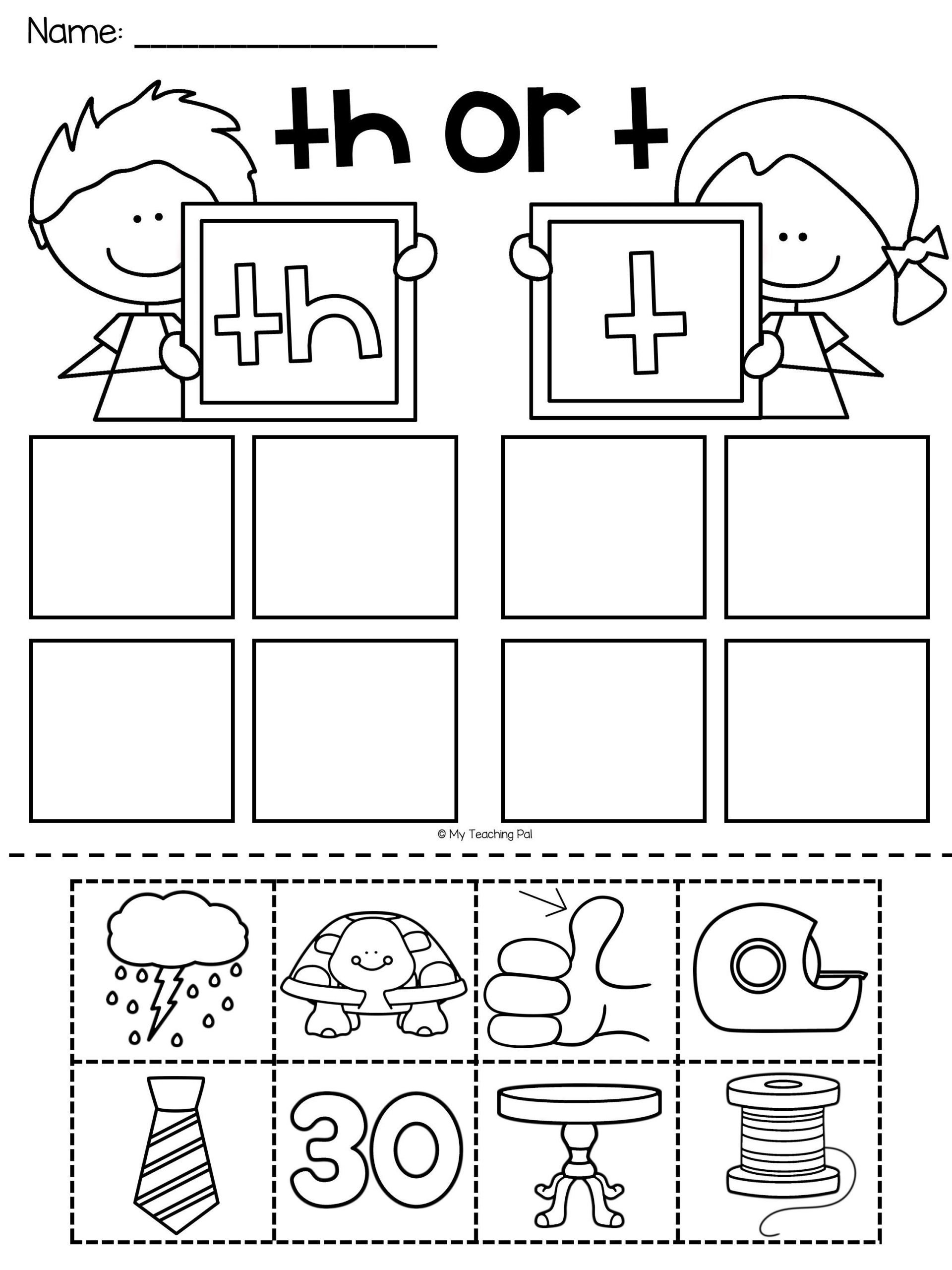 Th sound Worksheets Kindergarten Th Worksheet Packet Digraphs Worksheets Distance
