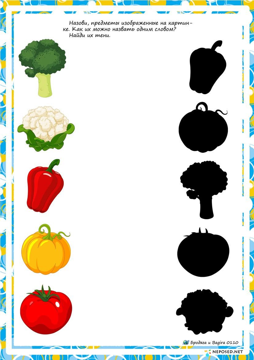 Vegetables Worksheet for Kindergarten Fruit Shadow Worksheet for Kids