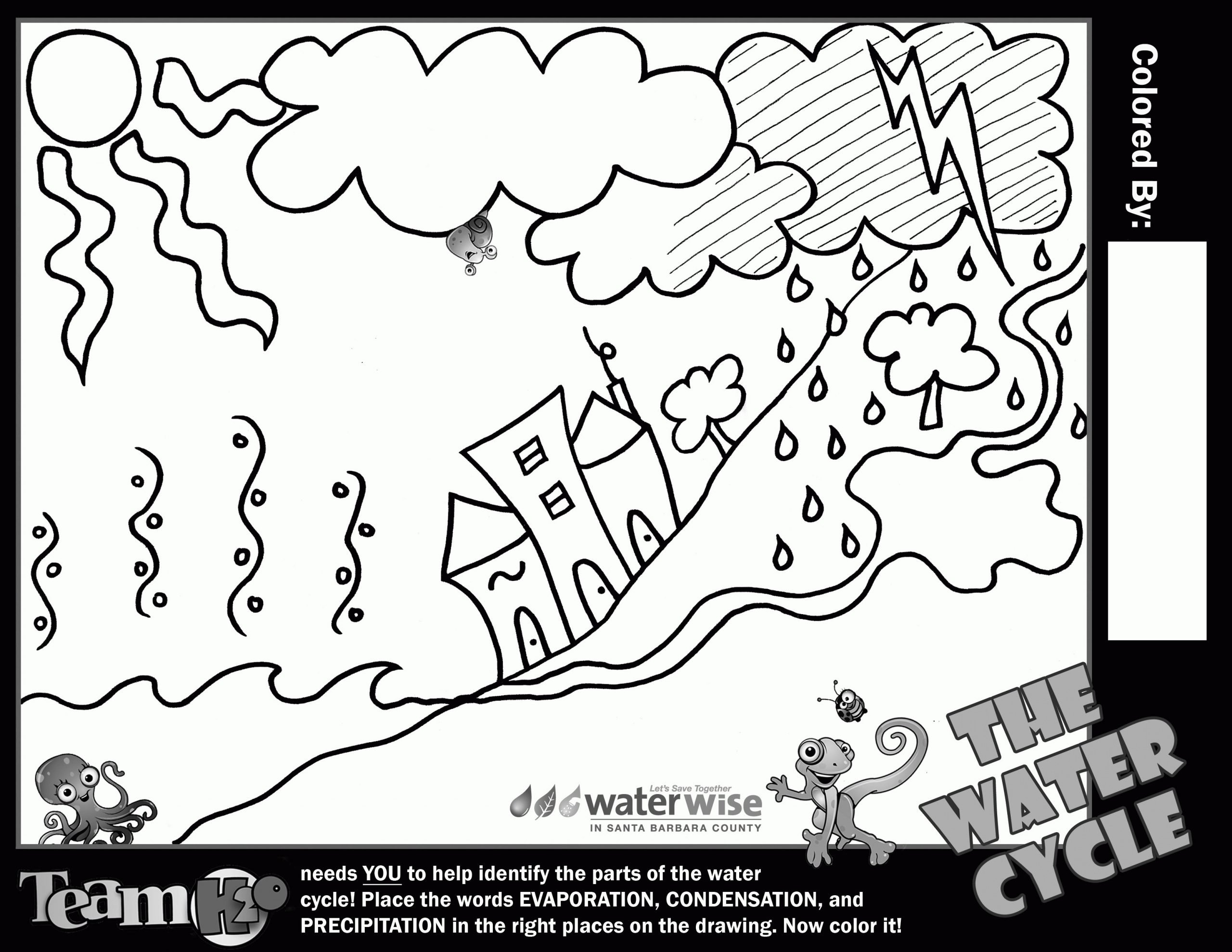 water cycle coloring pages new water cycle for kids coloring page coloring home of water cycle coloring pages
