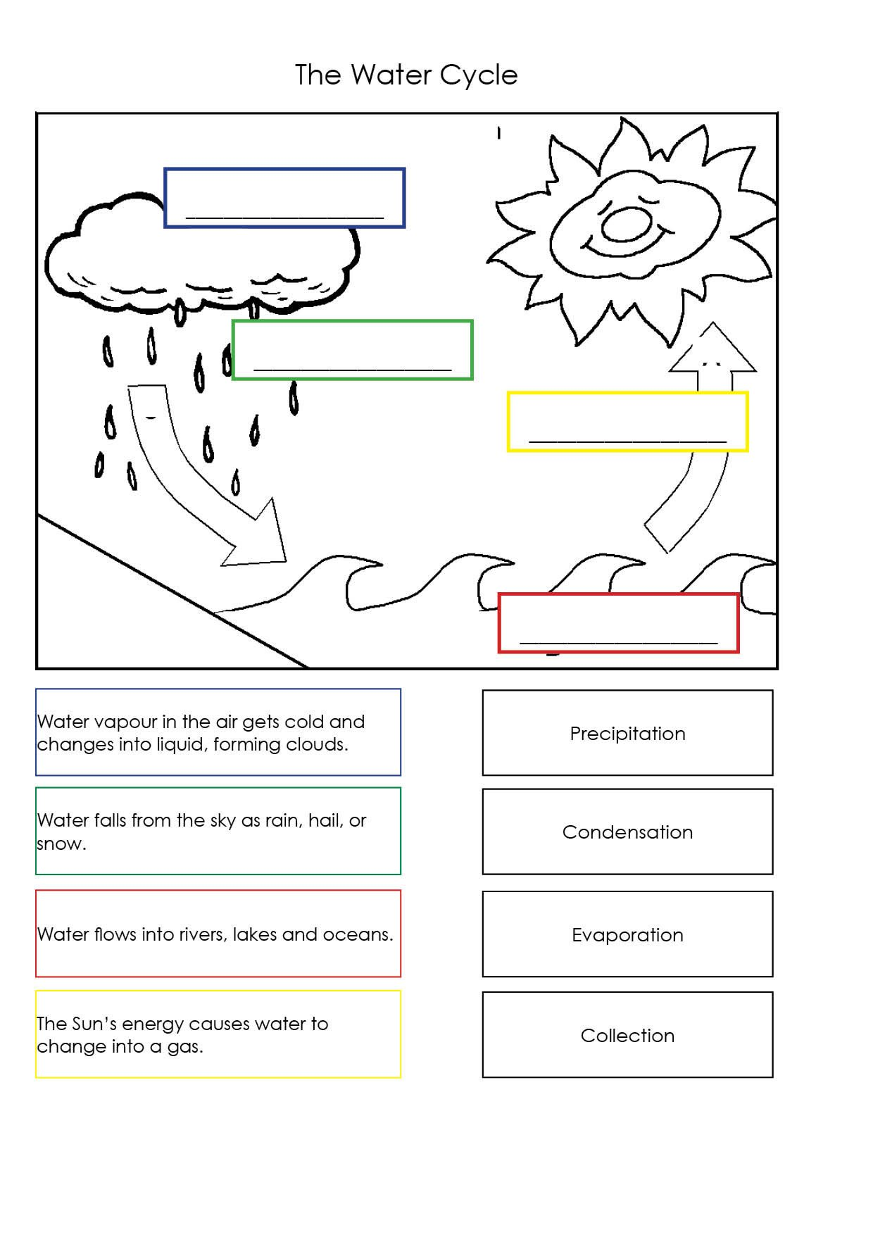 water cycle worksheets for kids free worksheets library