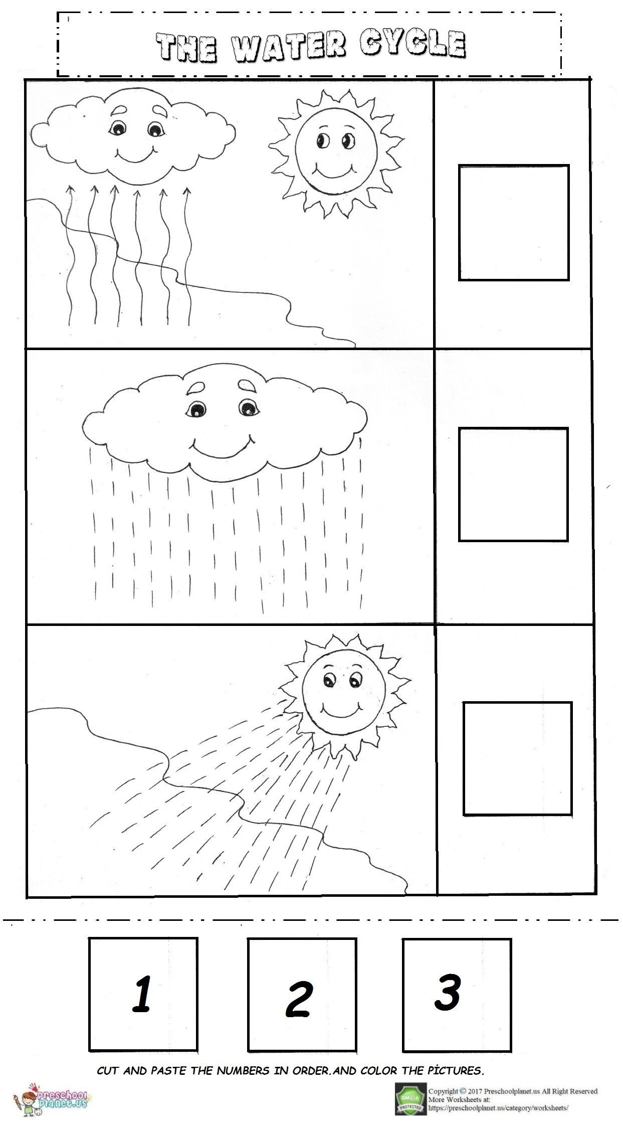 Water Cycle Kindergarten Worksheet the Water Cycle Worksheet