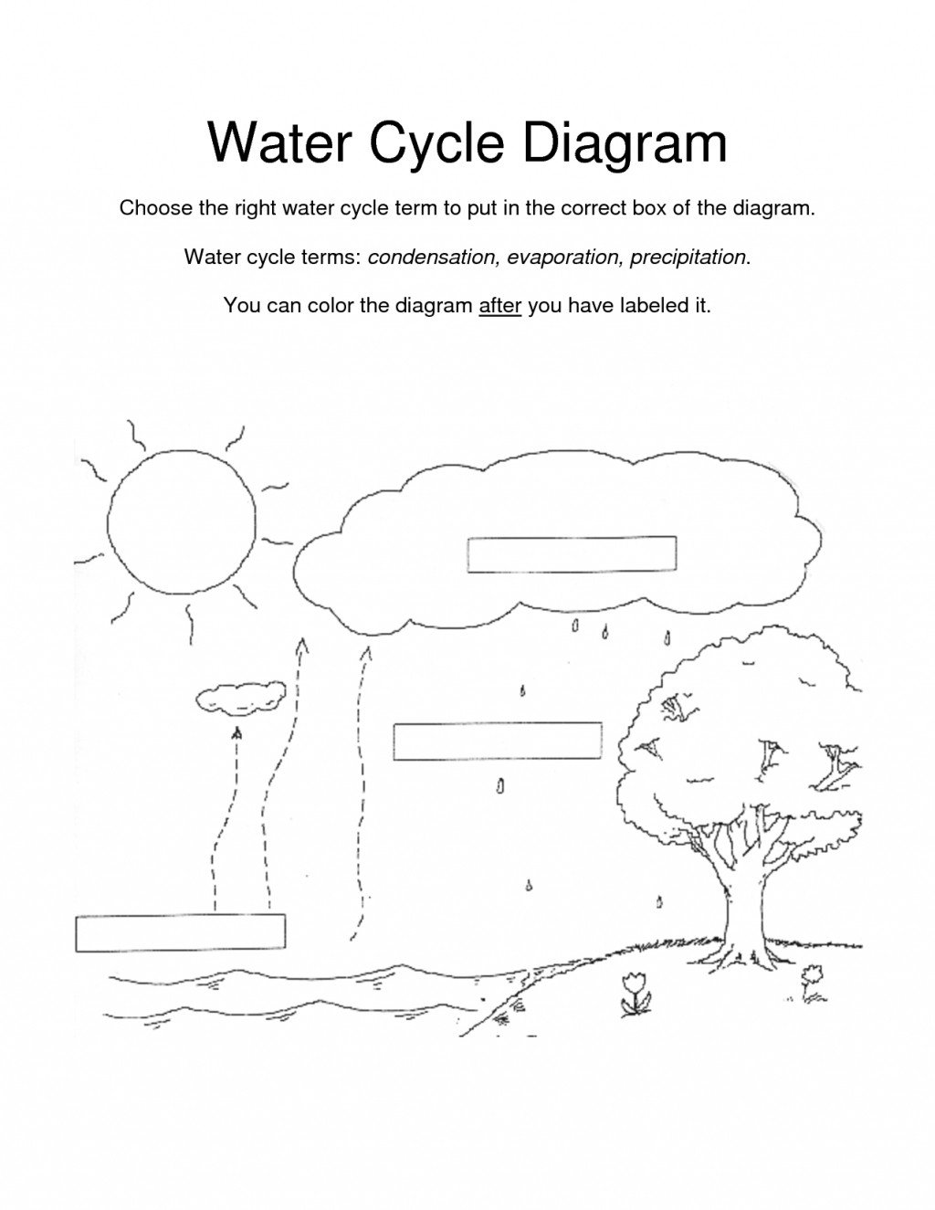Water Cycle Kindergarten Worksheet Worksheet Incredible Worksheet for Kinder Water Cycle