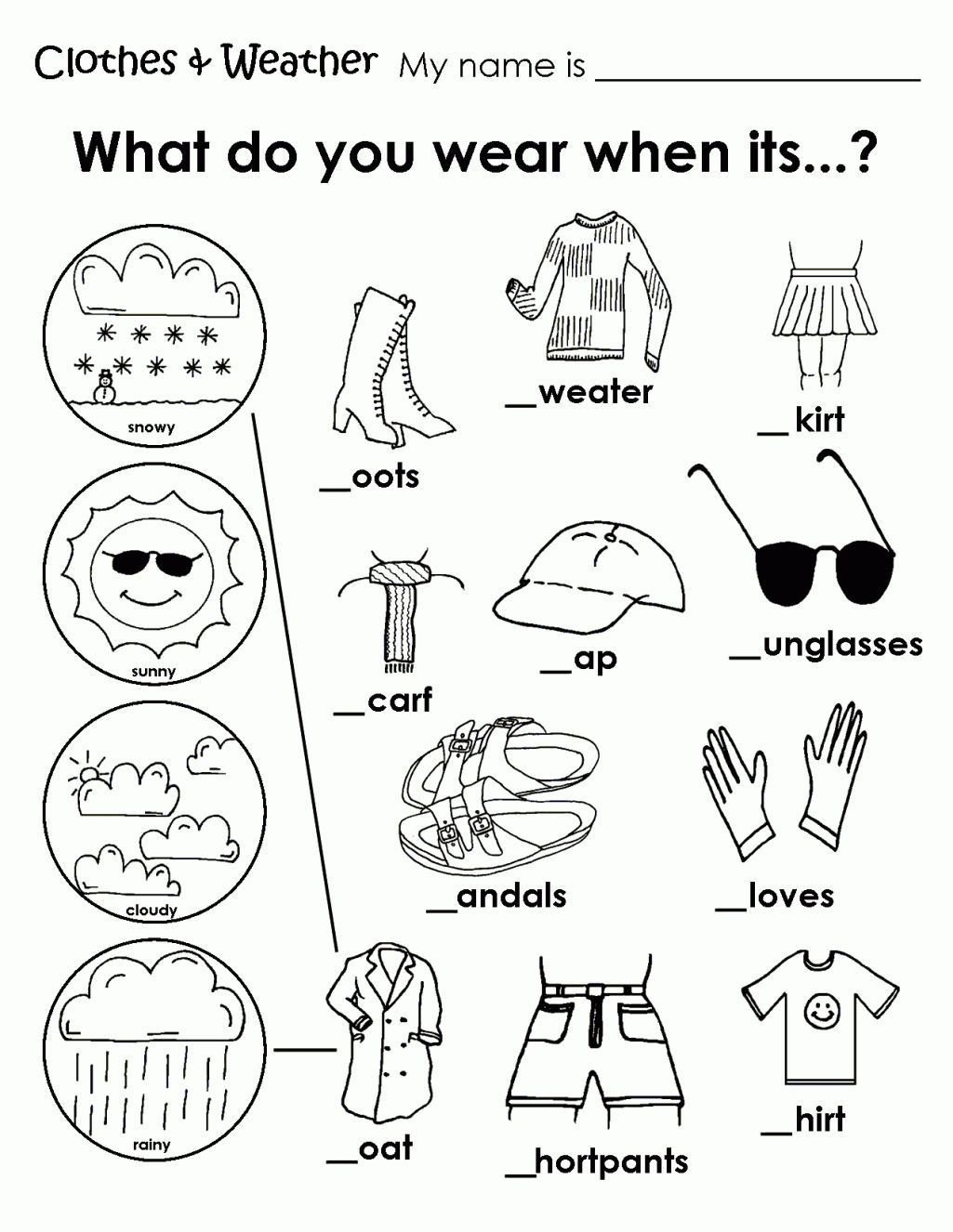 Weather Worksheet for Kindergarten Grammar Worksheets In 2020