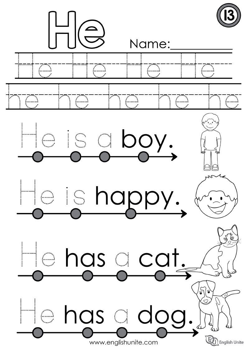 Weight Worksheets for Kindergarten 31 Worksheet for Kindergarten He She It
