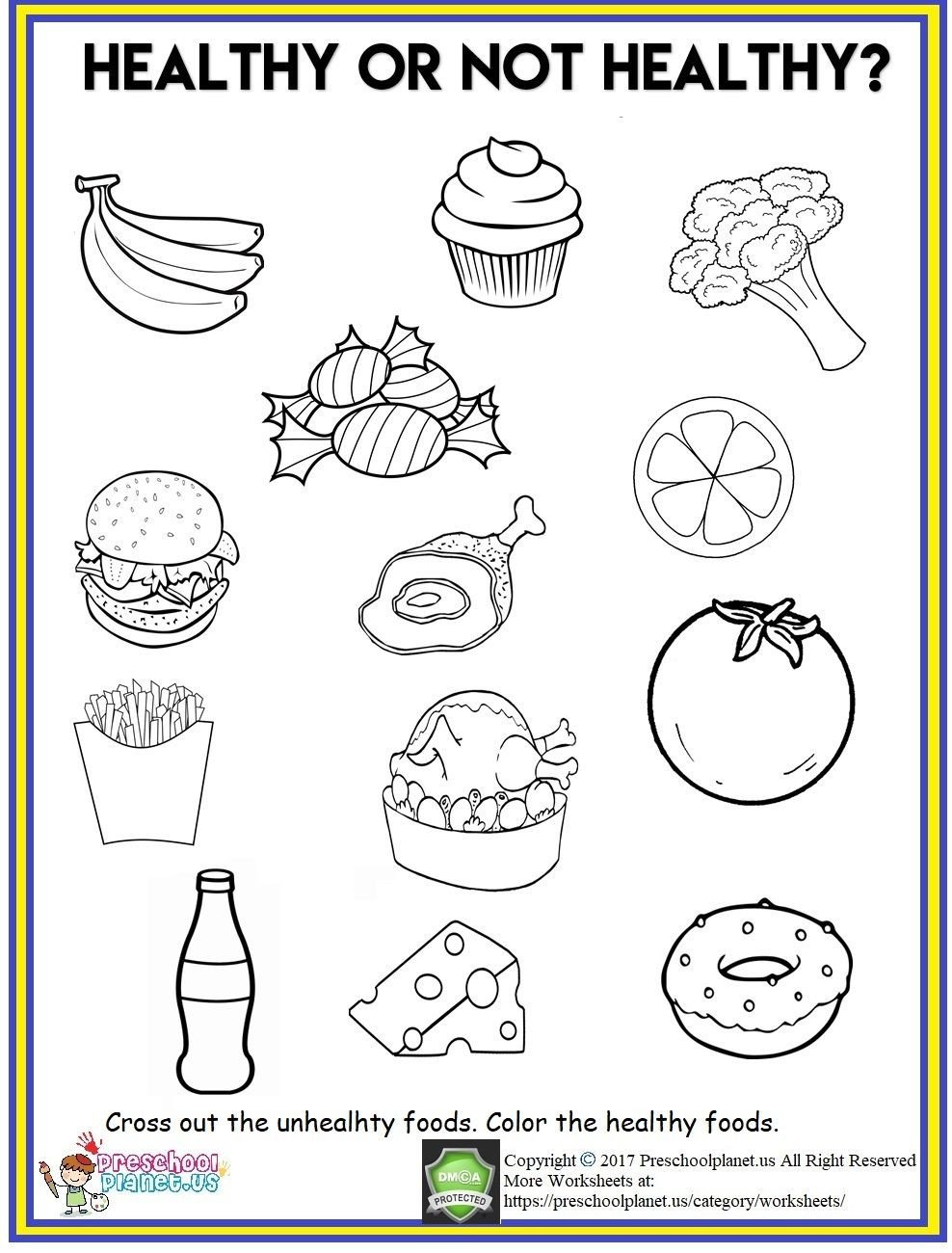 Weight Worksheets for Kindergarten Healthy Food Worksheet