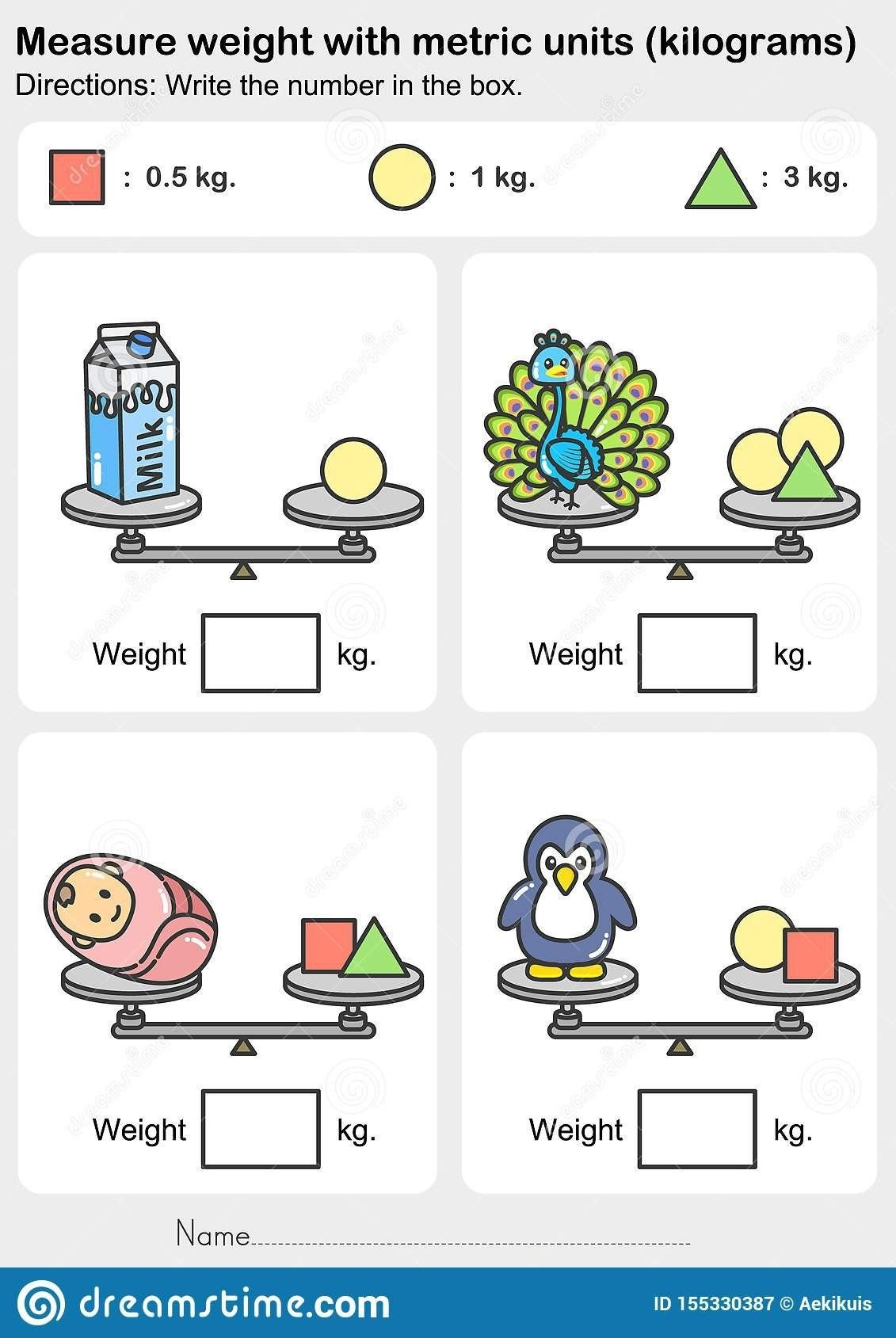 Weight Worksheets for Kindergarten Kindergarten Measurement Worksheets Weight Measurement