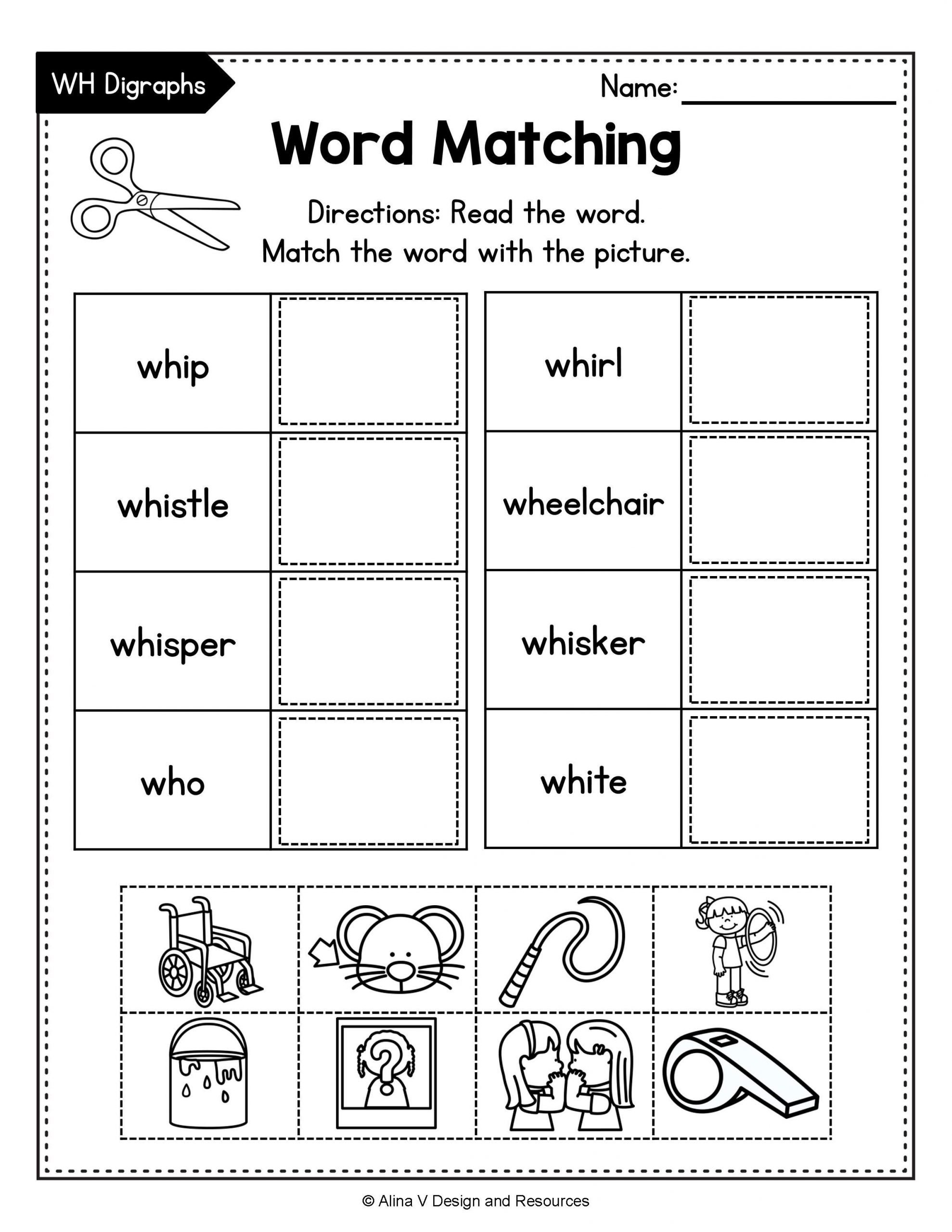 Wh Worksheets for Kindergarten Consonant Digraphs Worksheets Sh Ch Th Wh Ph Kn Wr Qu