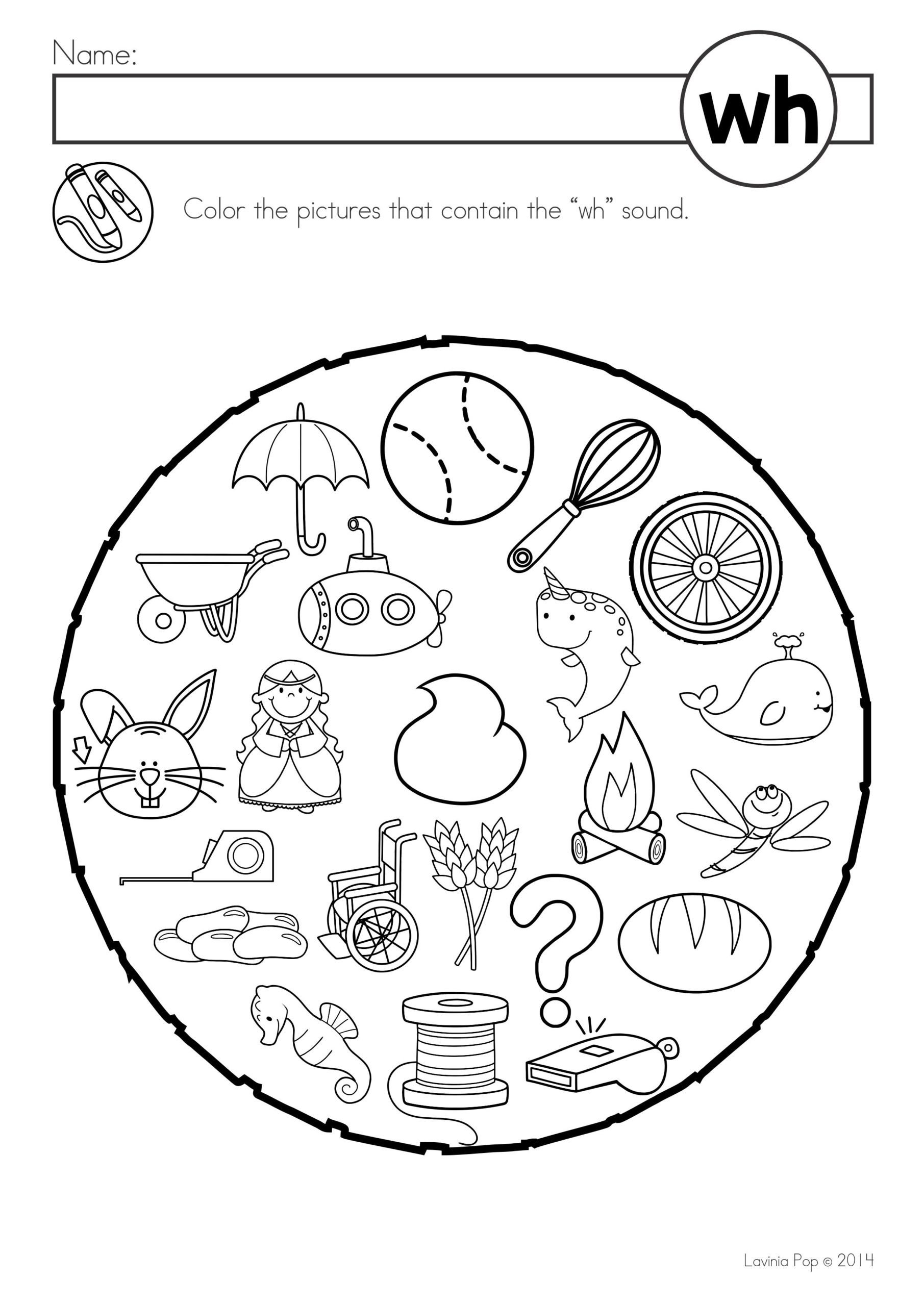 Wh Worksheets for Kindergarten Free Digraph Wh Phonics Word Work Multiple Phonograms