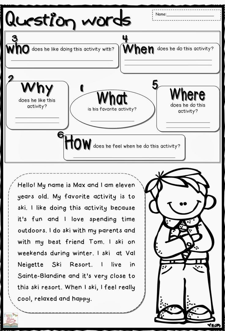 Wh Worksheets for Kindergarten Wh Question Worksheets