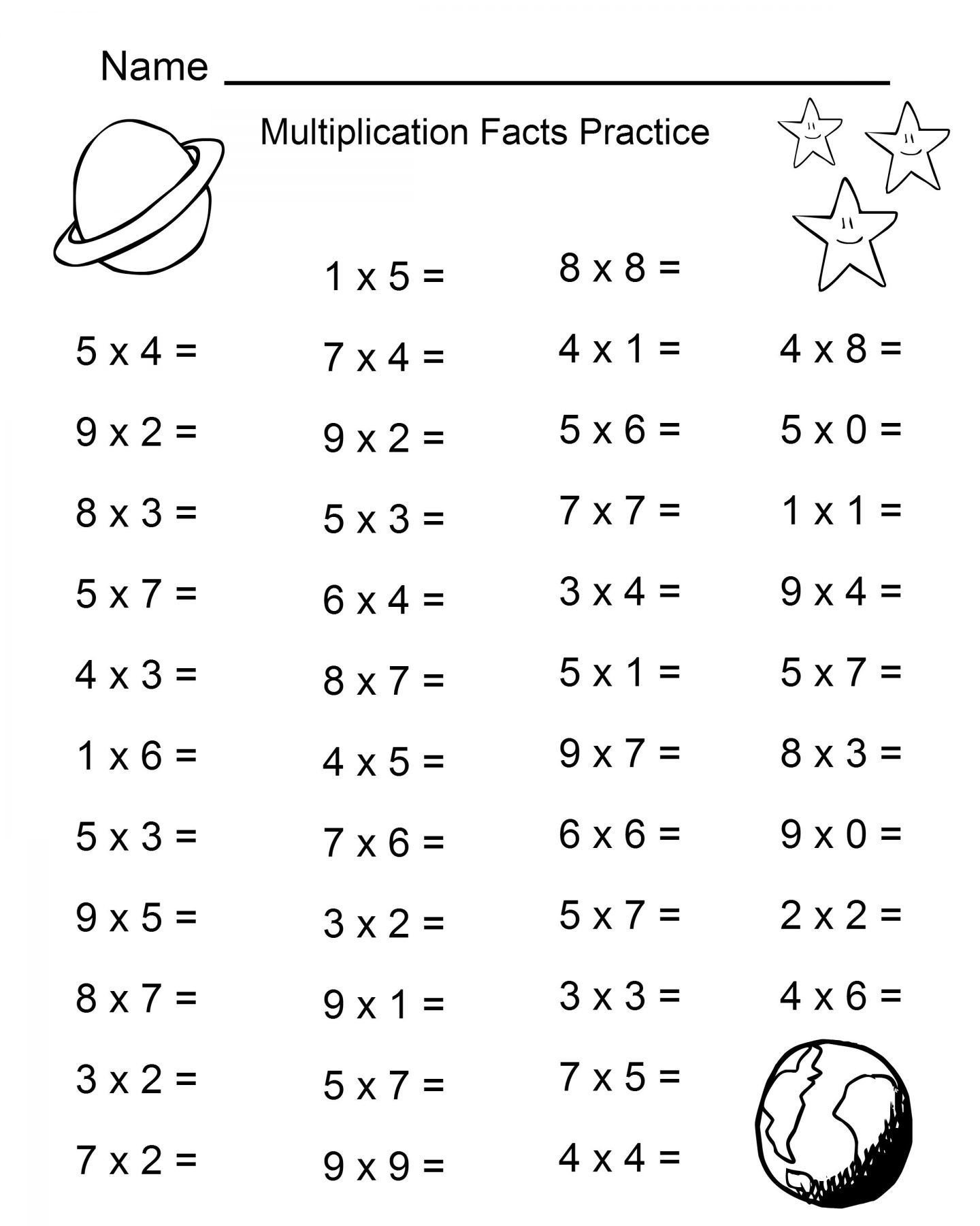 4 Times Tables Worksheet Times Table Math Worksheets Printable