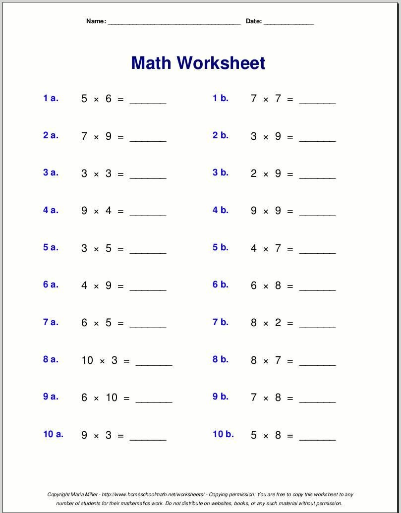 4th Grade Frequency Table Worksheets Multiplication Worksheets Grade 4