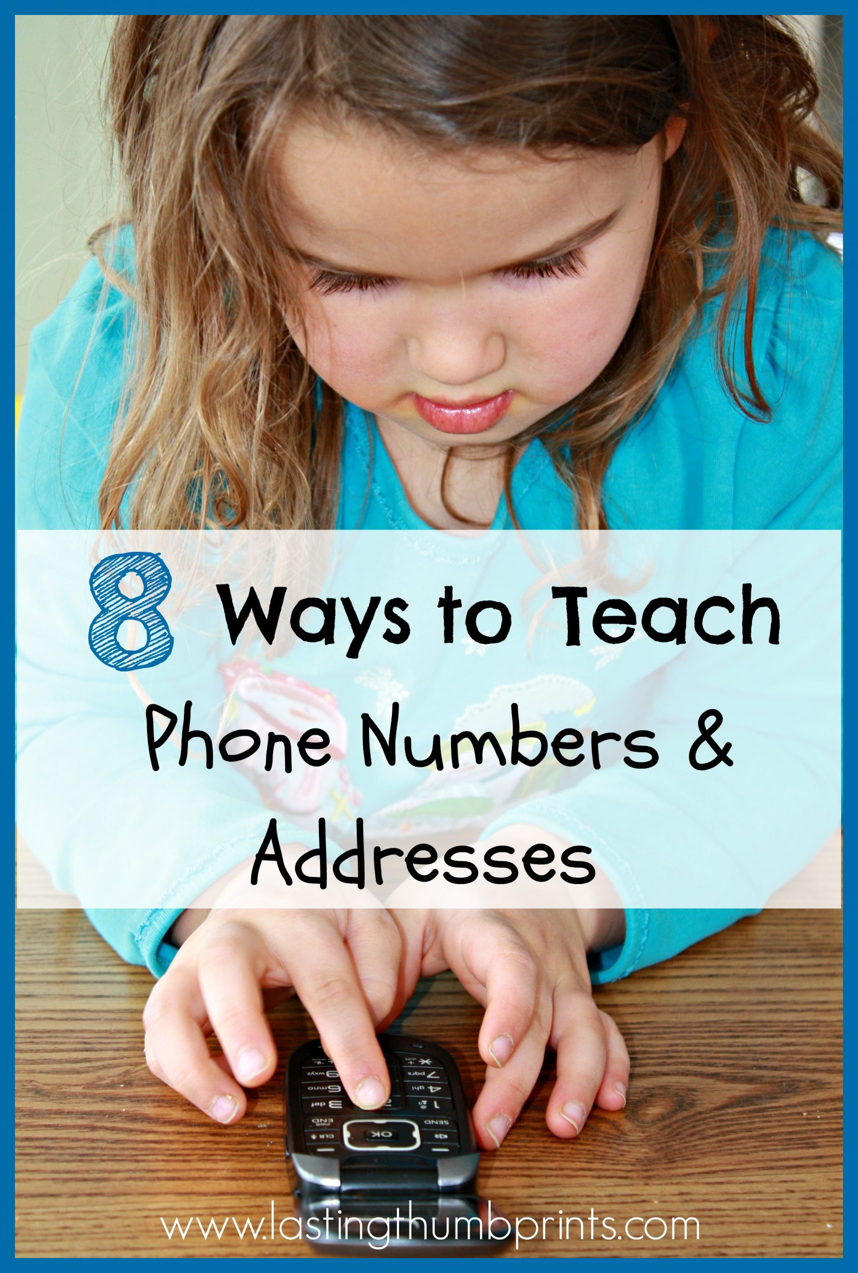 Address and Phone Number Worksheet 8 Ways to Teach Children their Address and Phone Number