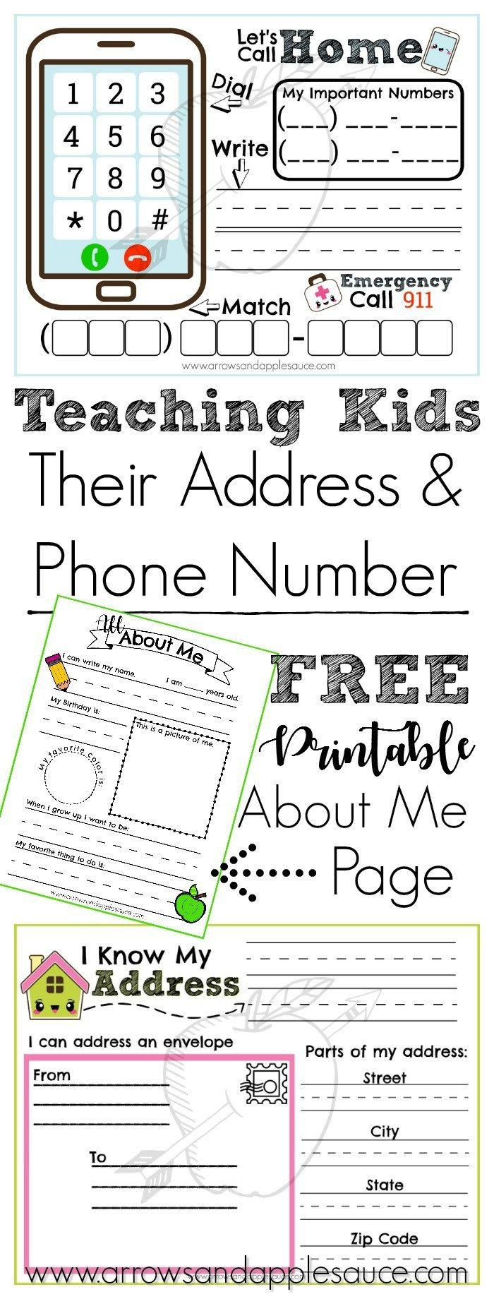 Address and Phone Number Worksheet Address and Phone Number Activities