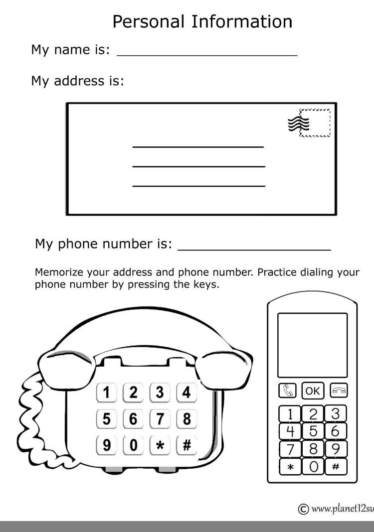 Address and Phone Number Worksheet Pin by Mad On Contact and Filing