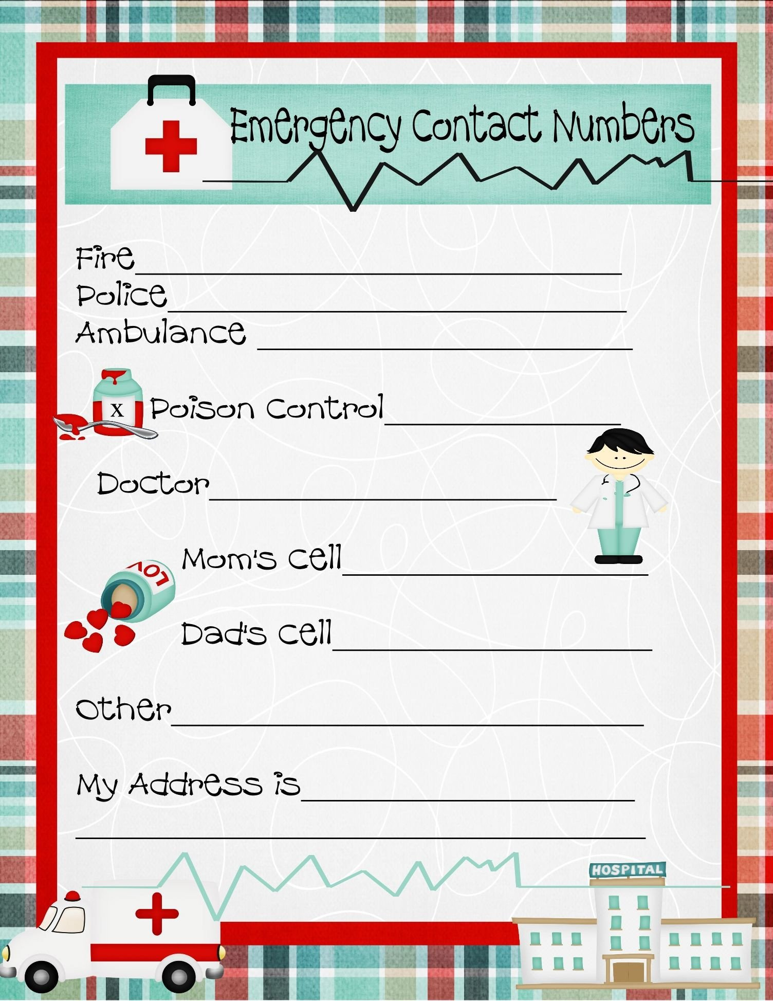 Address and Phone Number Worksheet Pin On First Aid Badge