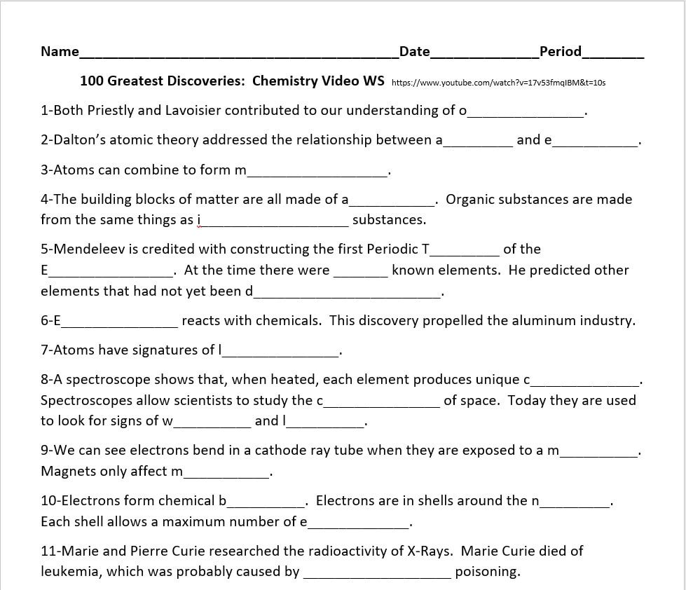Bill Nye Periodic Table Worksheet Bill Nye Energy Worksheet Energy Etfs