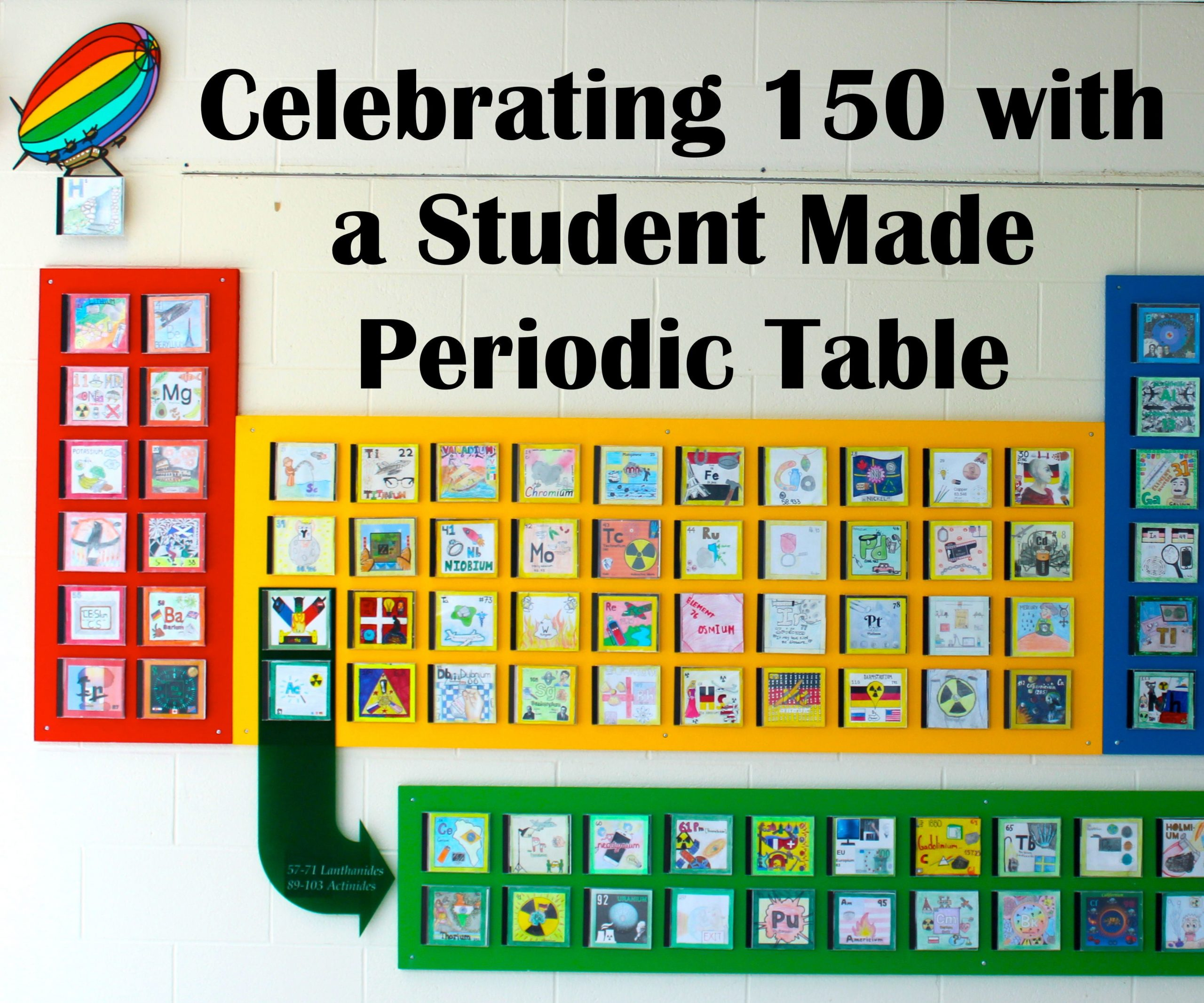 Building the Periodic Table Worksheet A Student Made Periodic Table 5 Steps with