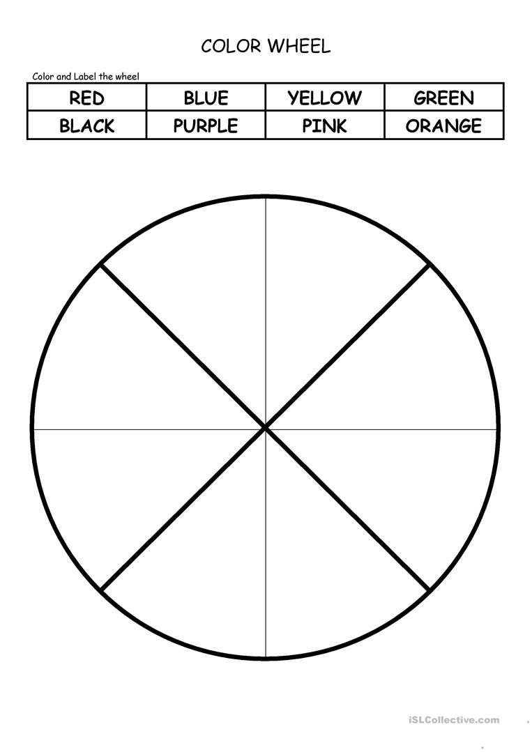 Color Wheel Worksheet for Elementary Color Wheel English Esl Worksheets for Distance Learning