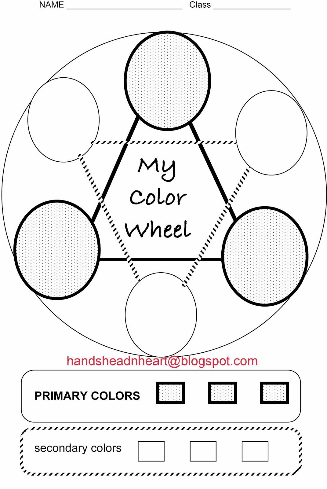 Color Wheel Worksheet for Elementary Worksheet Color Wheel Elementary