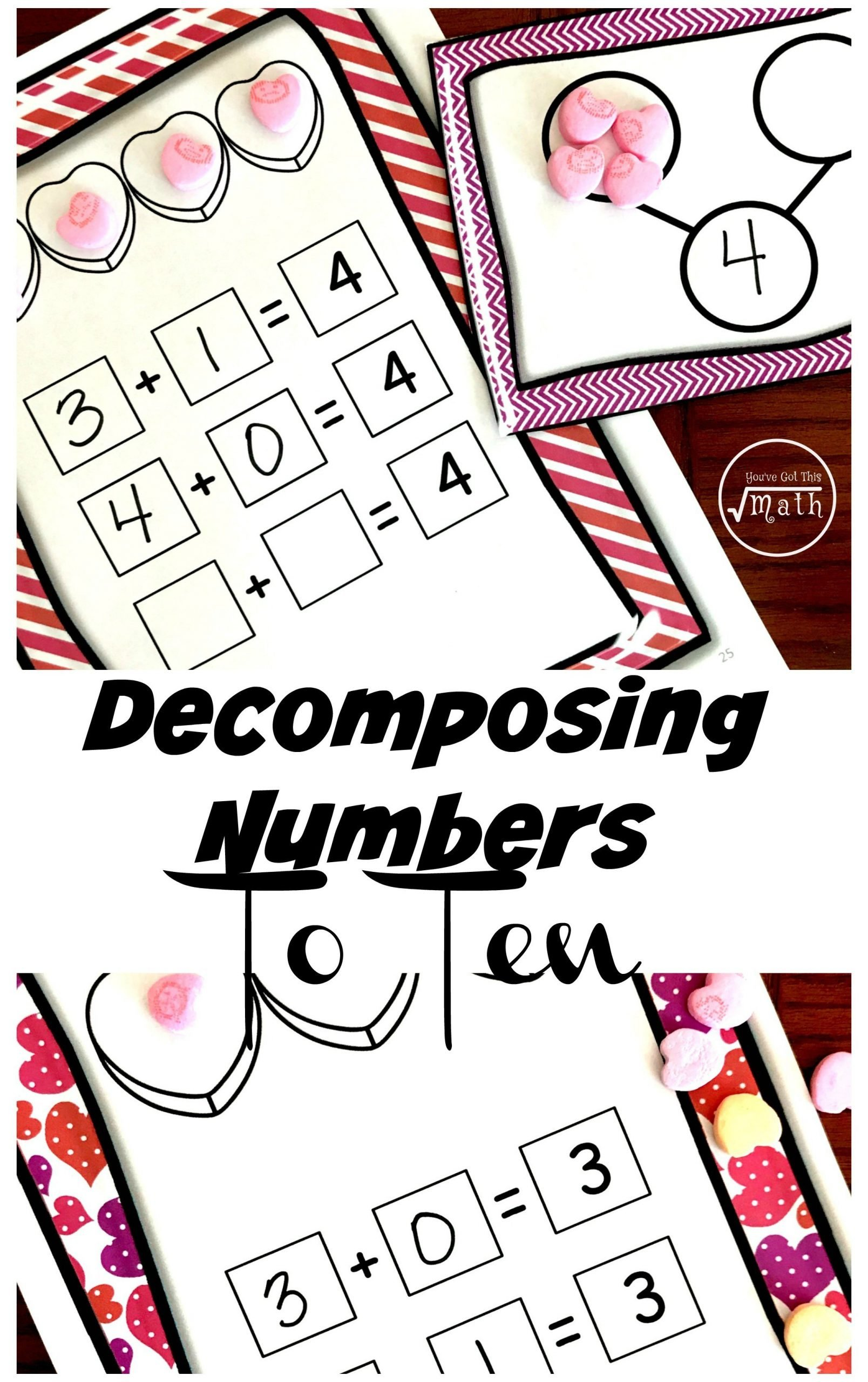 Decomposing Numbers to 10 Worksheets Eight Free De Posing Numbers to 10 Worksheets