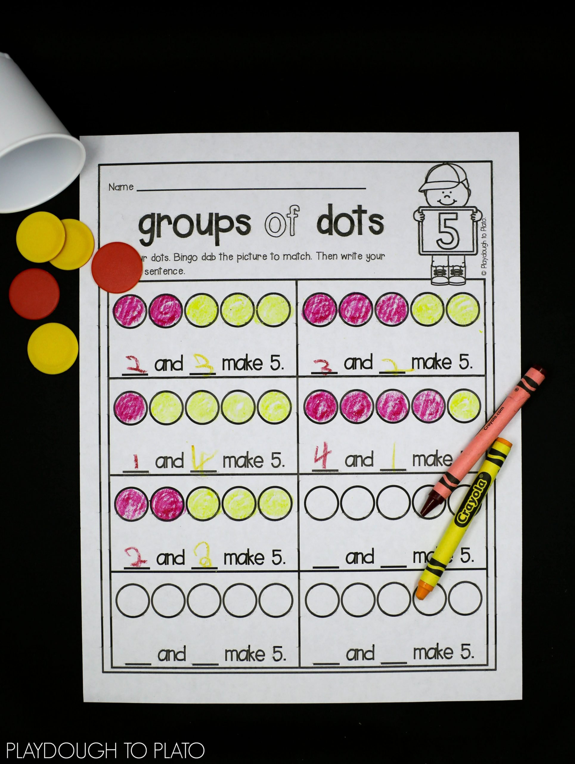 Decomposing Numbers to 10 Worksheets Number De Position Playdough to Plato