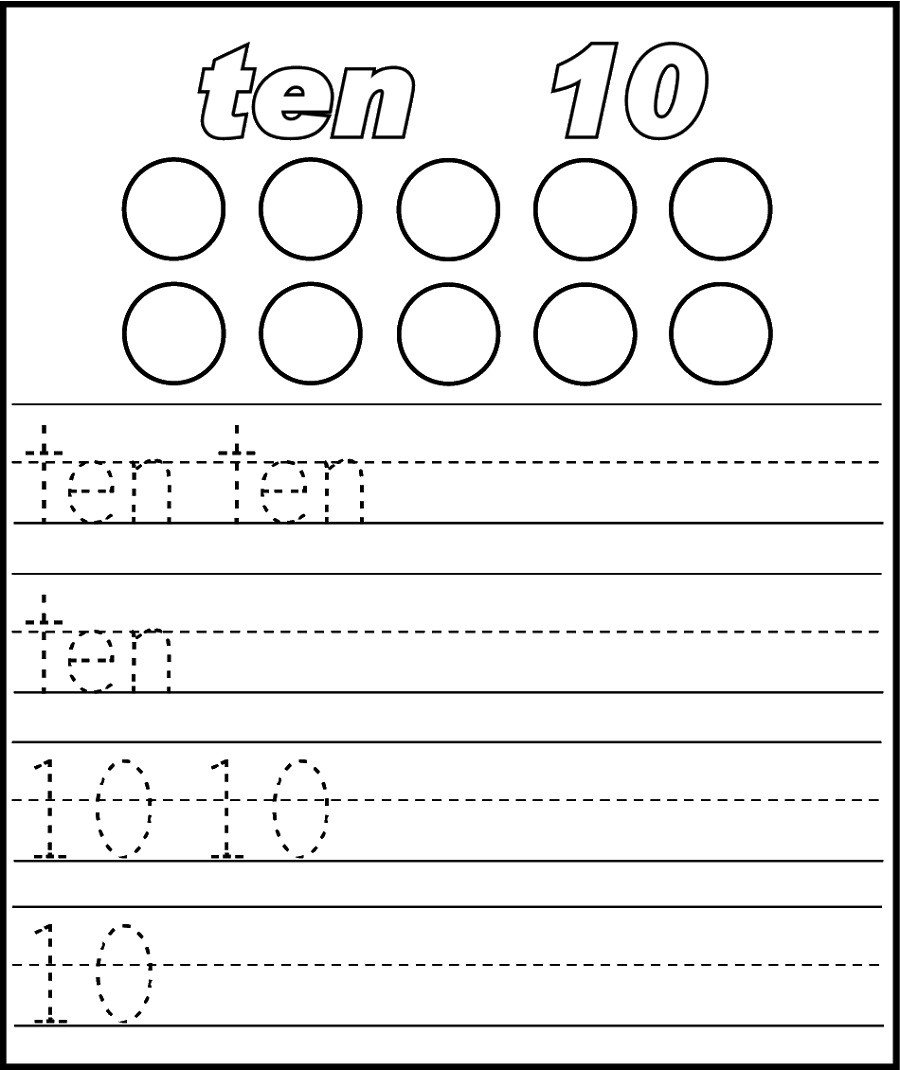 Decomposing Numbers to 10 Worksheets Printable Number 10