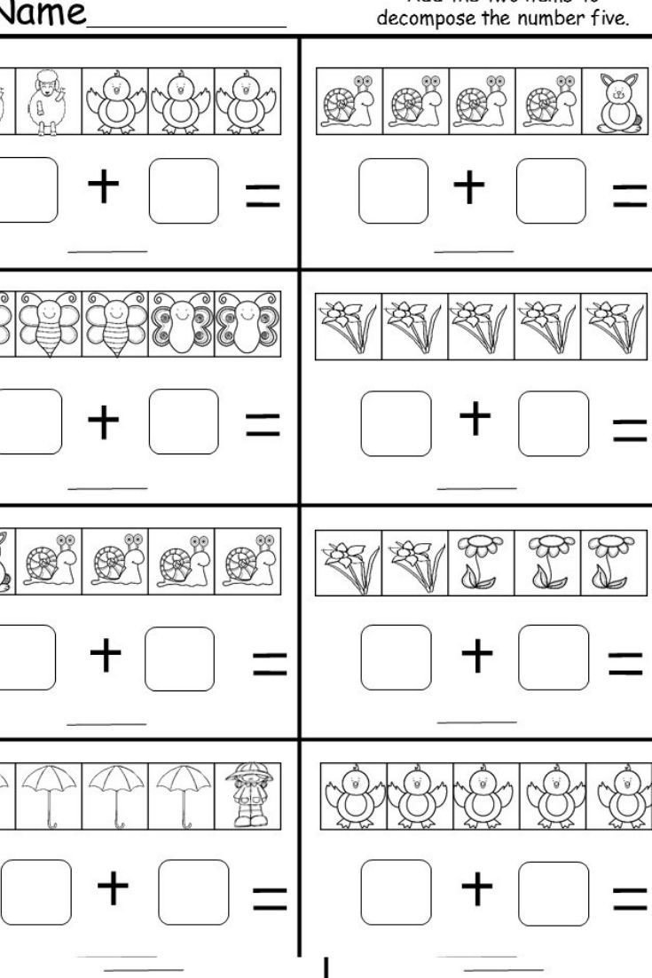Decomposing Numbers to 10 Worksheets This is A Free Kindergarten De Posing Numbers Worksheet