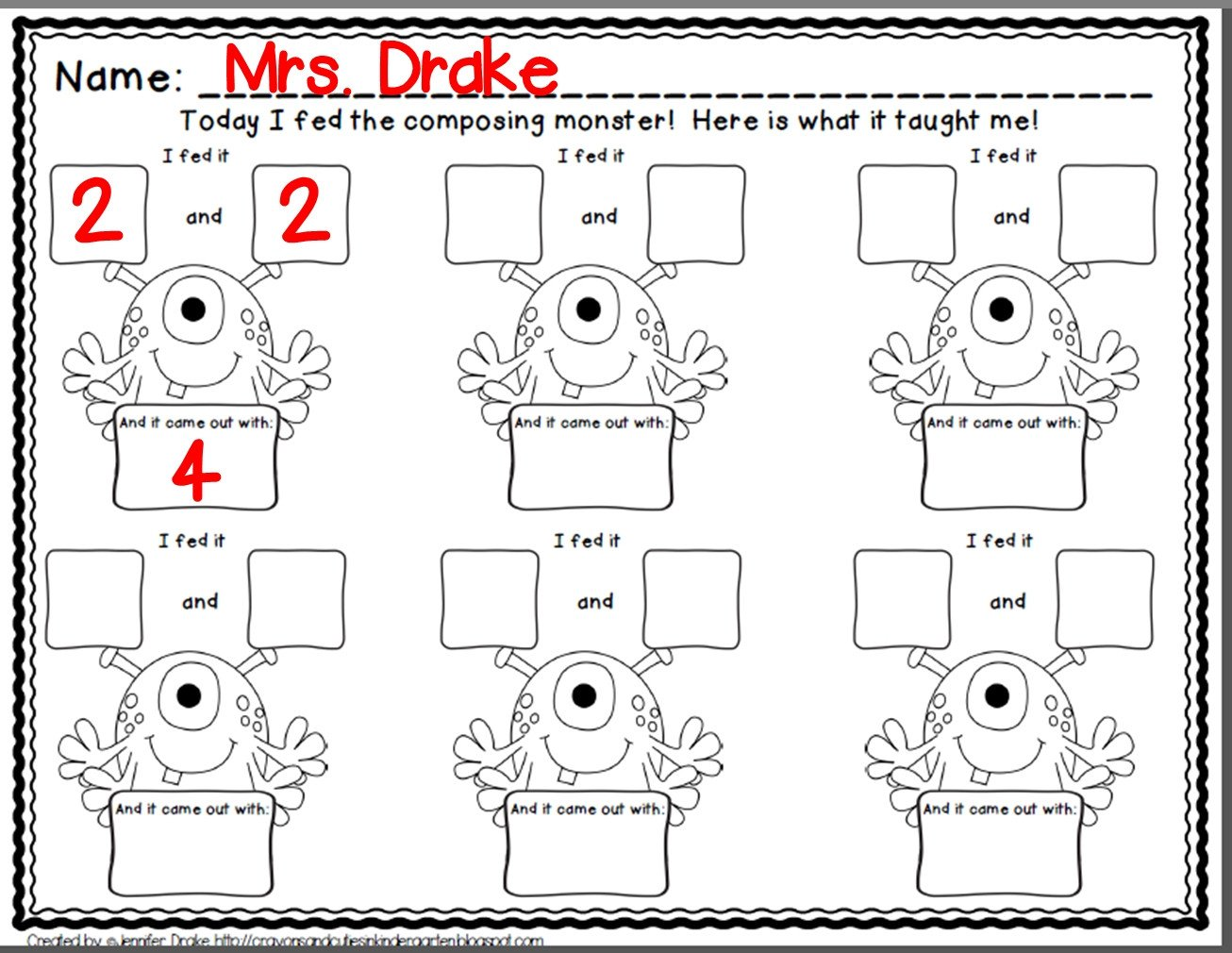 Decomposing Numbers to 10 Worksheets Worksheet De Posing Numbers to Esl Kids Grants for