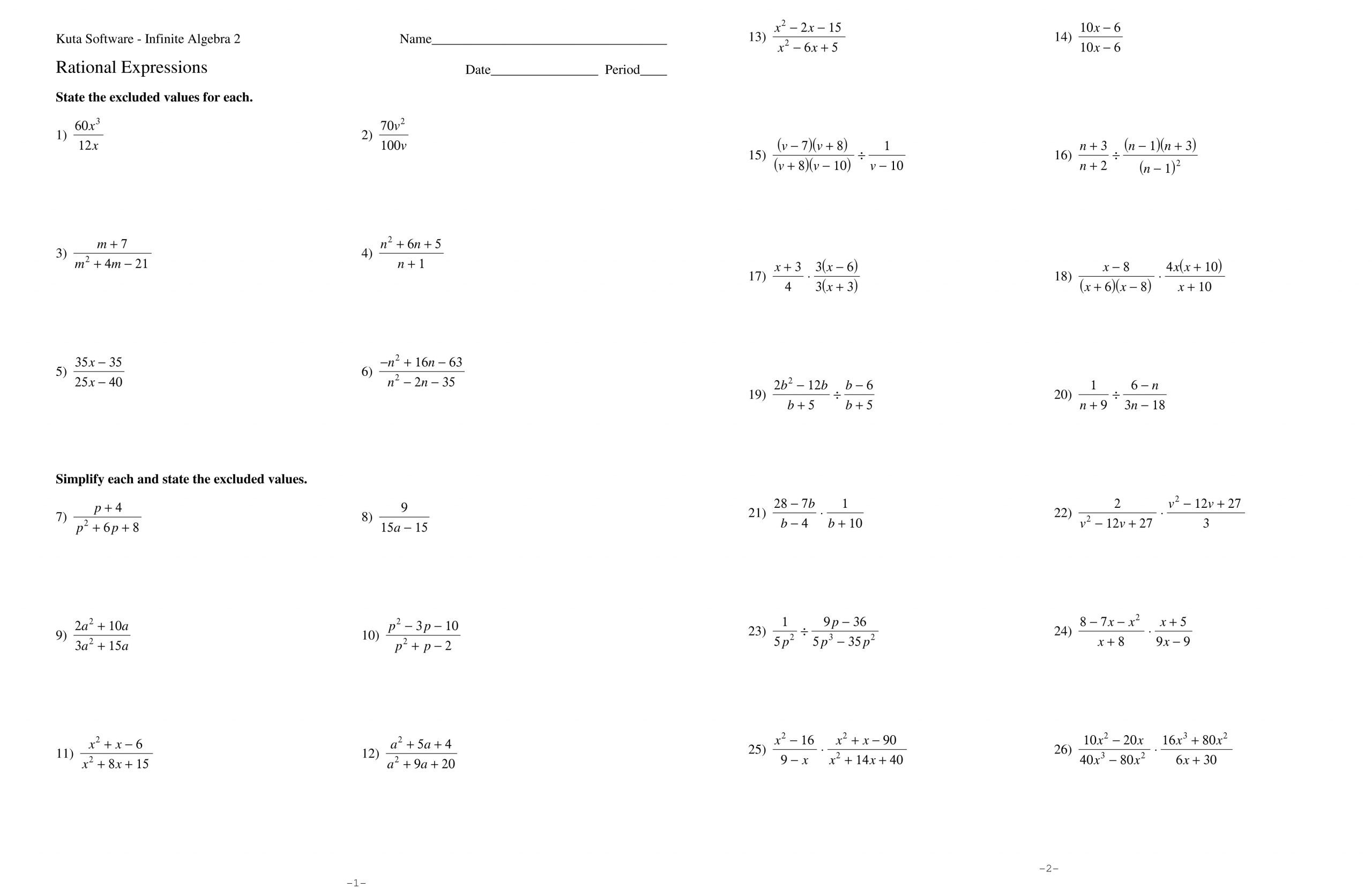 Equations with Rational Numbers Worksheet Adding and Subtracting Rational Numbers Worksheet Fractions