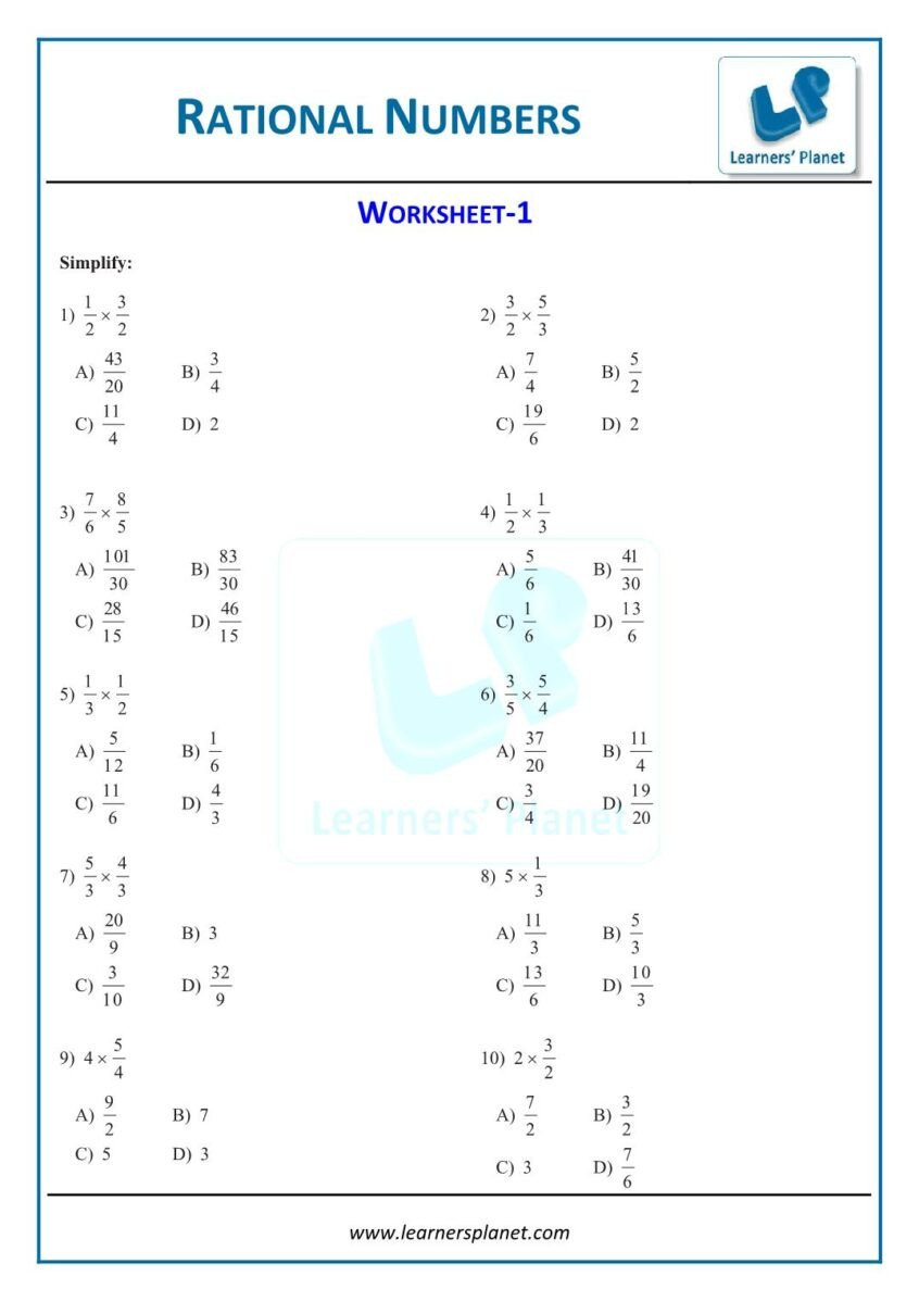 Equations with Rational Numbers Worksheet Worksheets Printable Maths Rational Number Worksheets Class