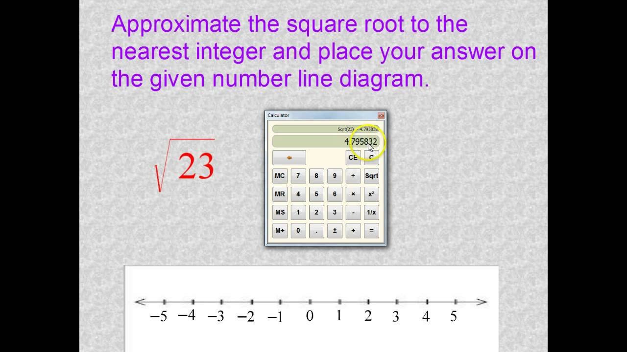 Estimating Irrational Numbers Worksheet Approximate Irrational Numbers solutions Examples Videos