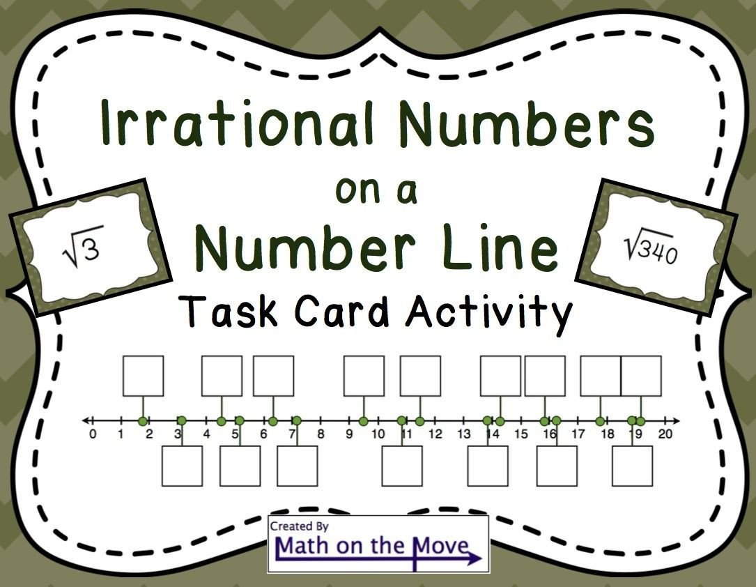 Estimating Irrational Numbers Worksheet Estimating Square Roots On A Number Line Pdf and Google