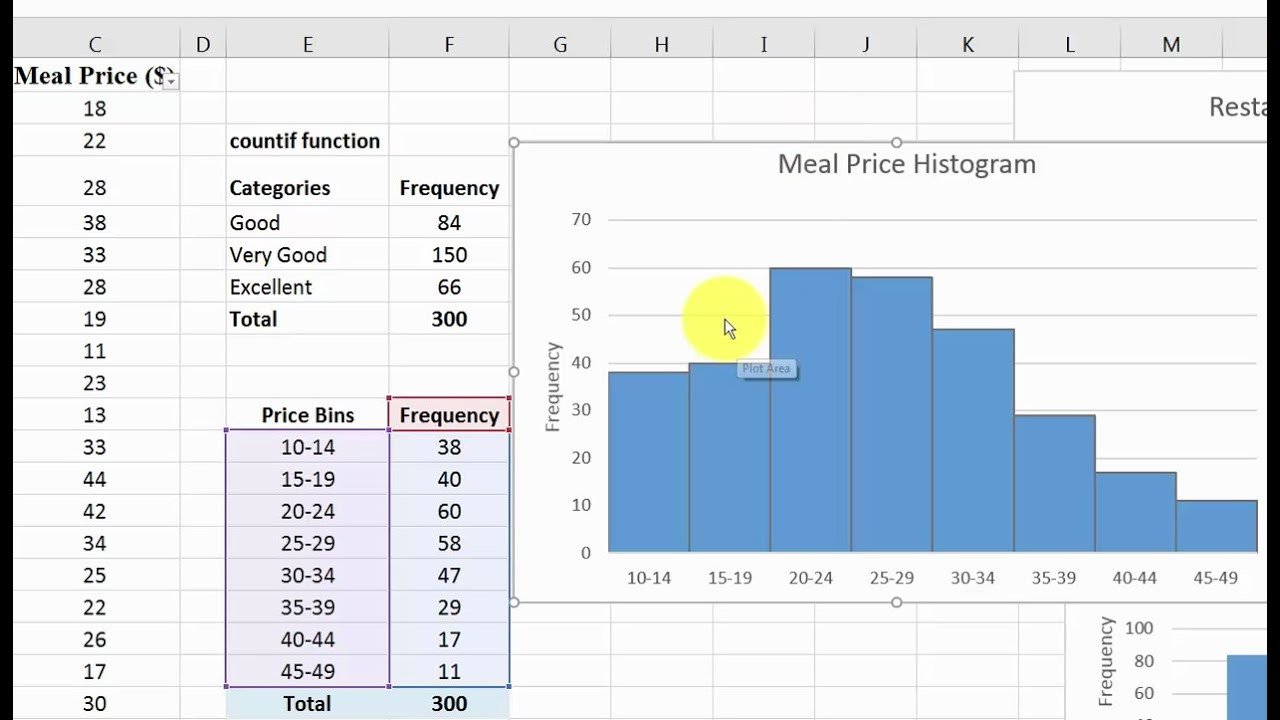 Frequency Table and Histogram Worksheet Quantitative Data In Excel Frequency Distribution and Histogram