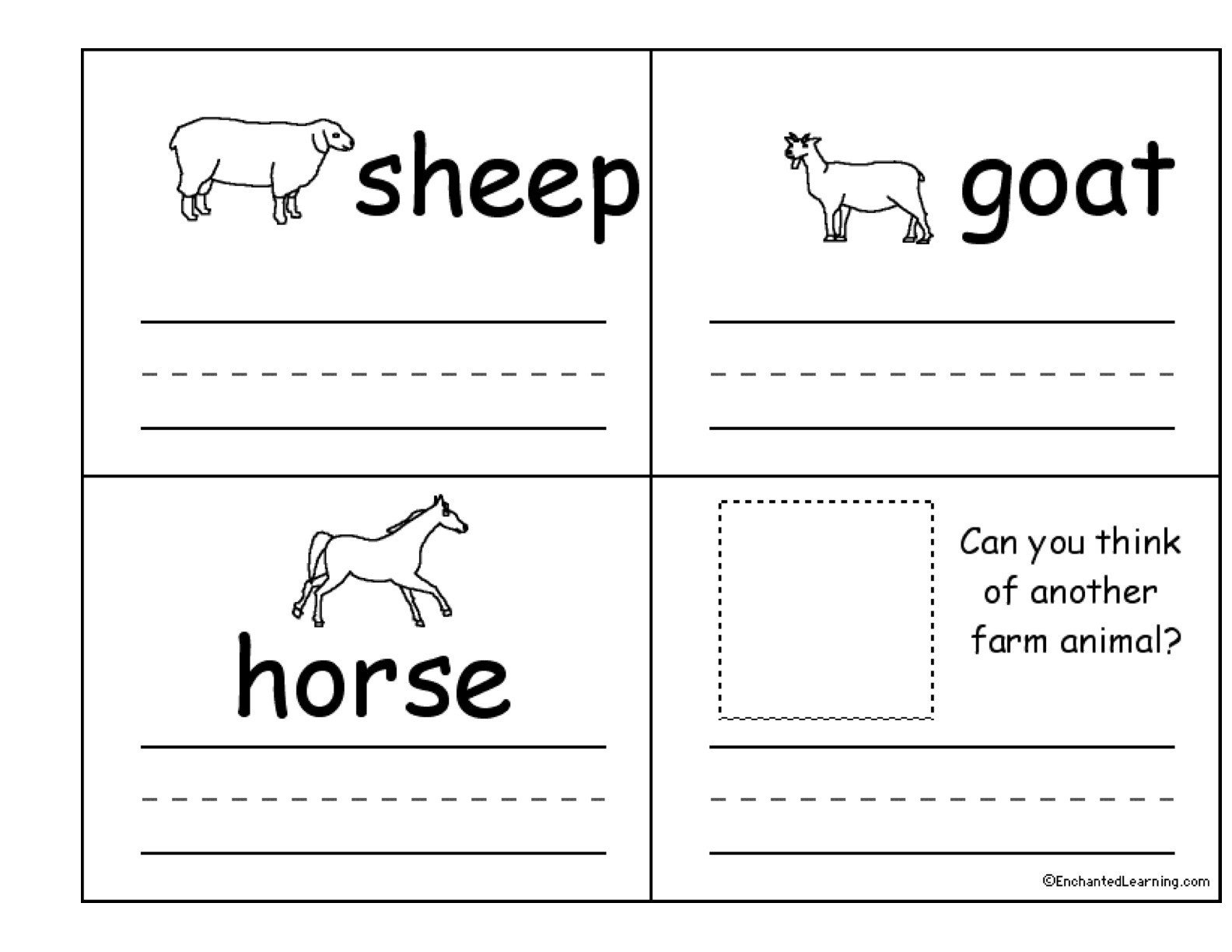 From Farm to Table Worksheets 7 Farm Animals Flashcards Apocalomegaproductions