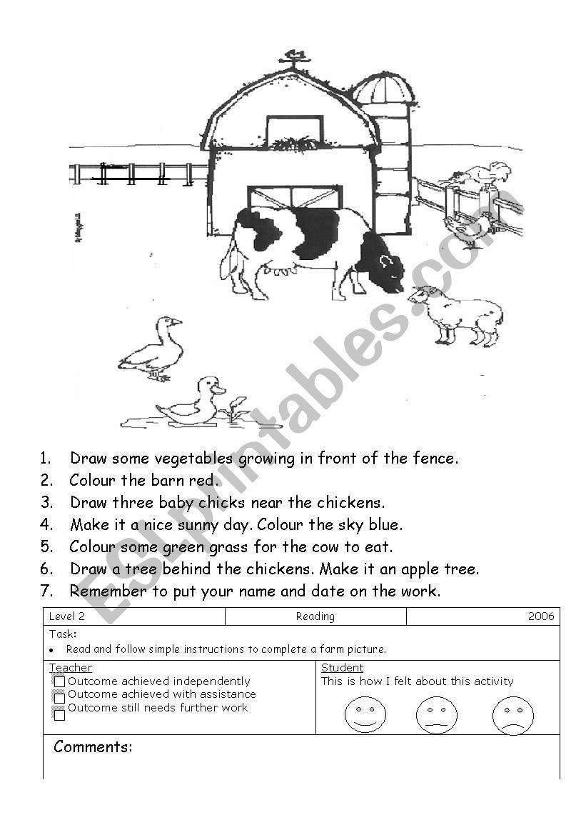 From Farm to Table Worksheets Farm Read and Do Esl Worksheet by Manjas