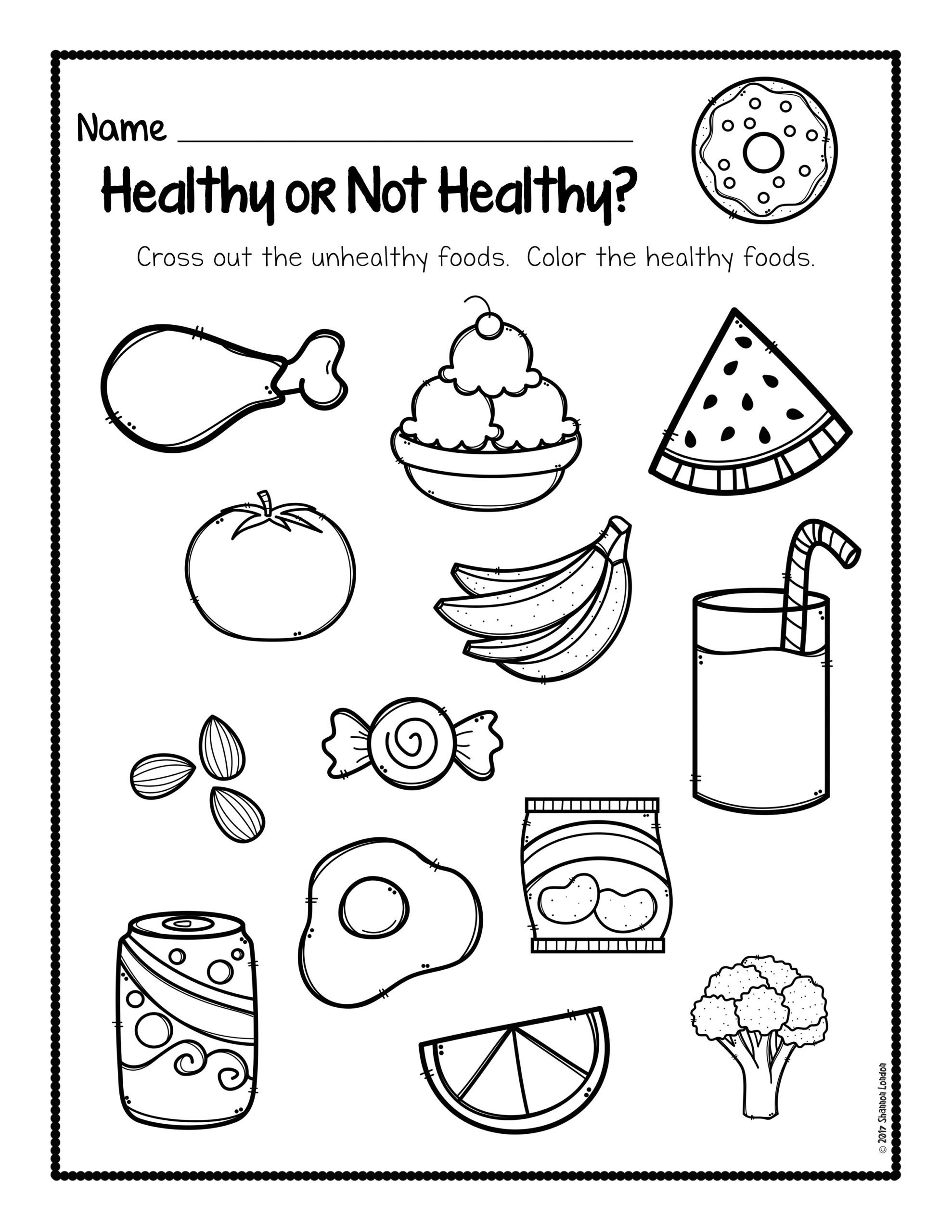 Healthy or Not Worksheets 001
