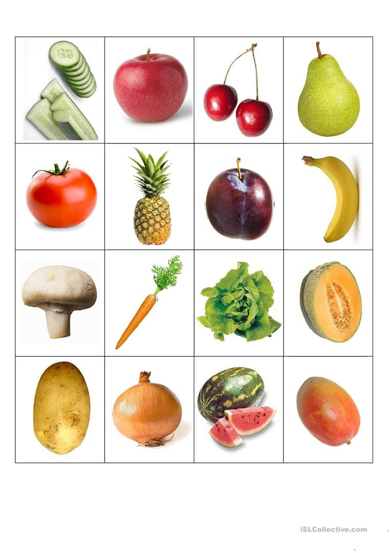 Fruits and Vegetables sorting Worksheet Fruits and Ve Ables