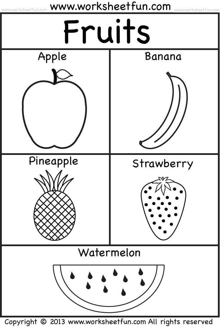 Fruits and Vegetables sorting Worksheet Fruits School Prep Pinterest Worksheets Free Free Preschool