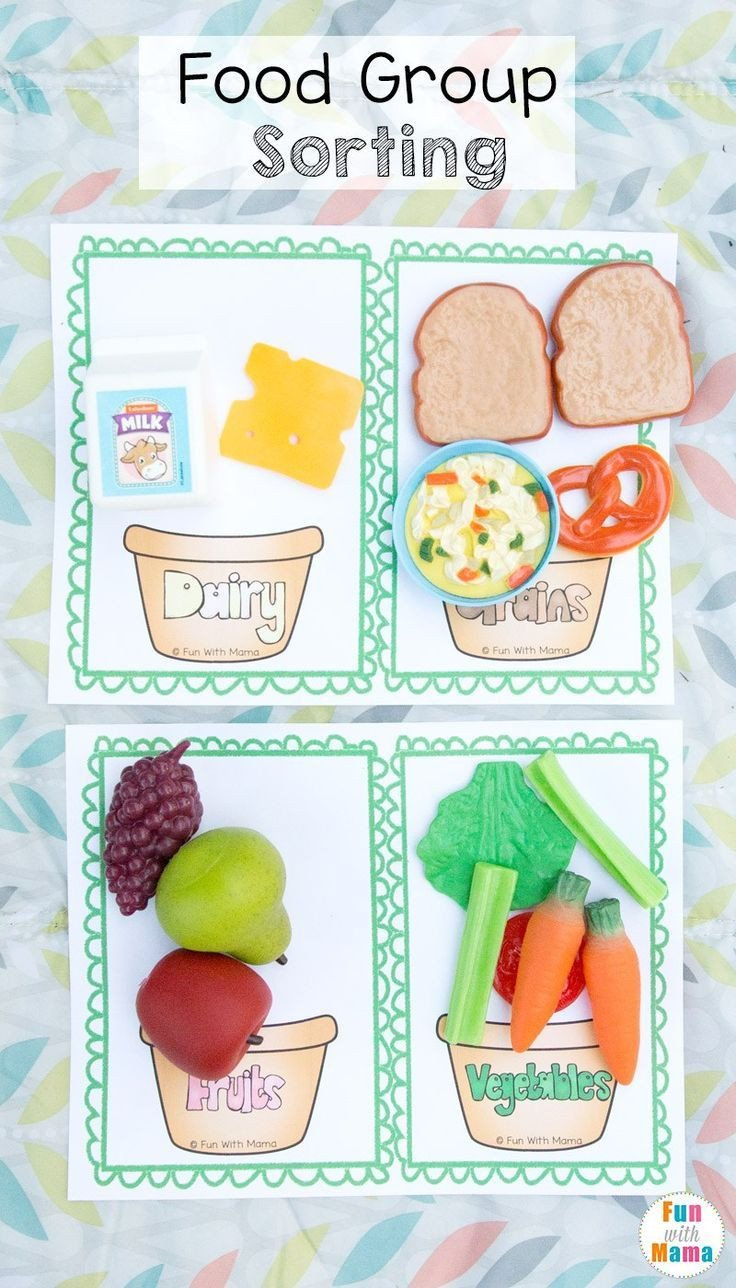 Fruits and Vegetables sorting Worksheet Pin On Preschool at Home