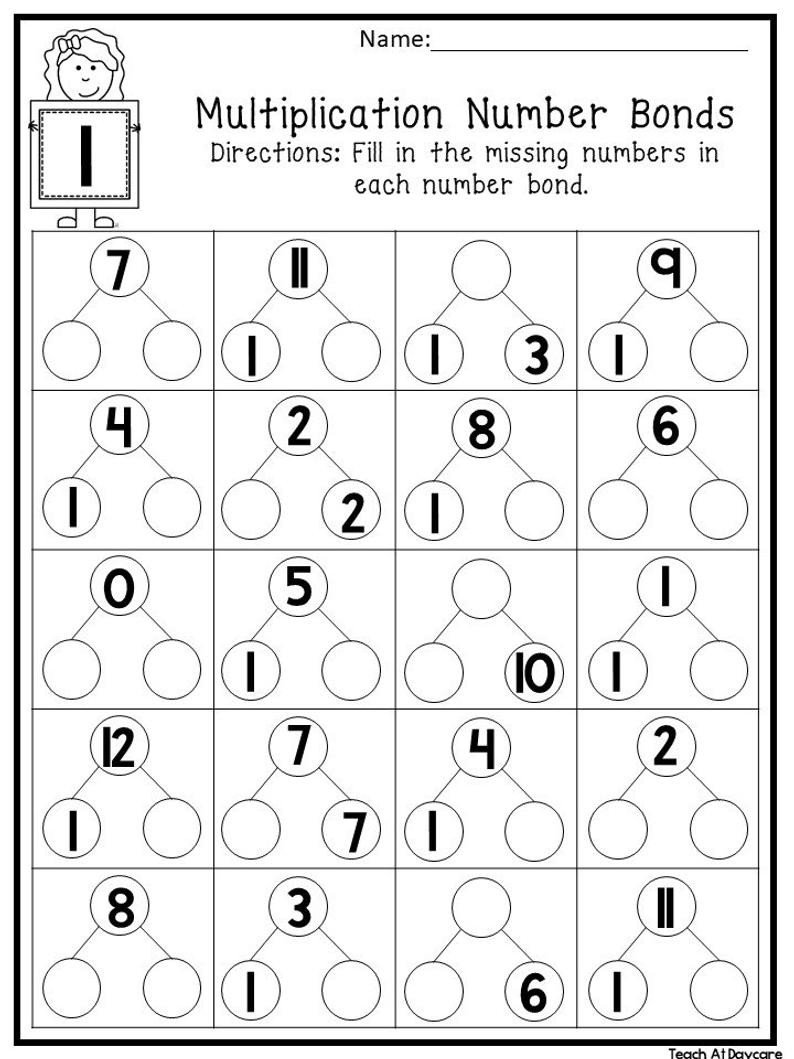 Kindergarten Number Bond Worksheet Number Bonds Worksheets for Print Math Free Printable Simple