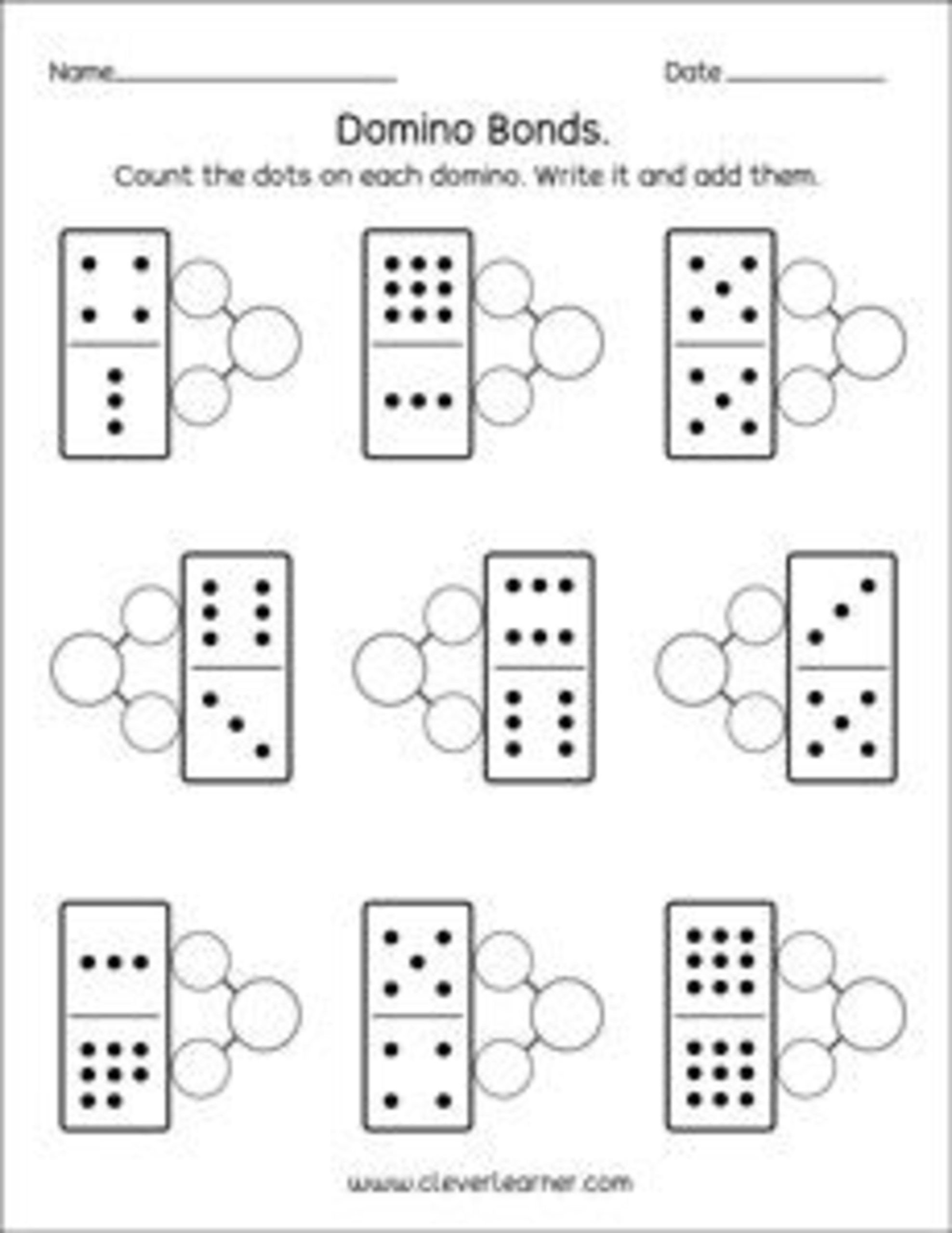Kindergarten Number Bonds Worksheets Number Bonds Worksheets for Printable Army Math Test